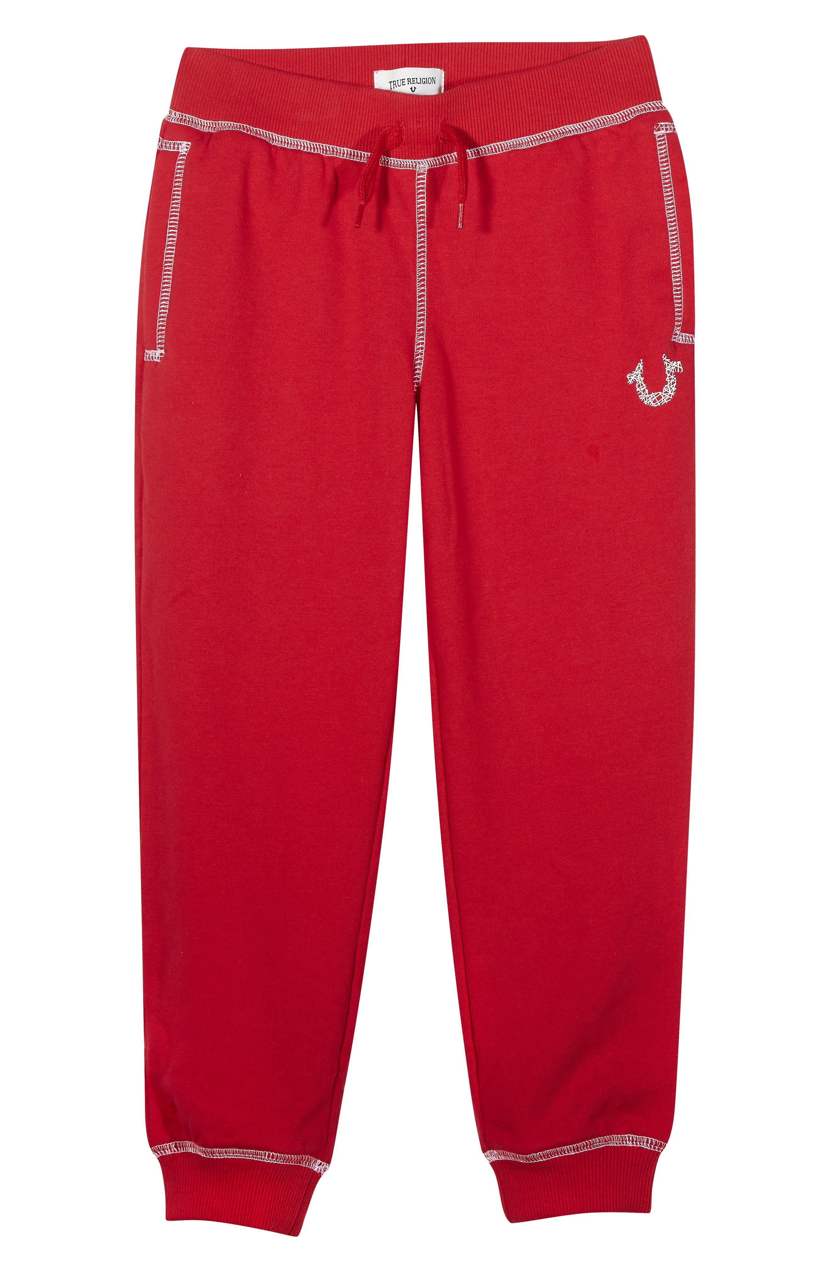 Shoestring Sweatpants,                         Main,                         color, Bright Red