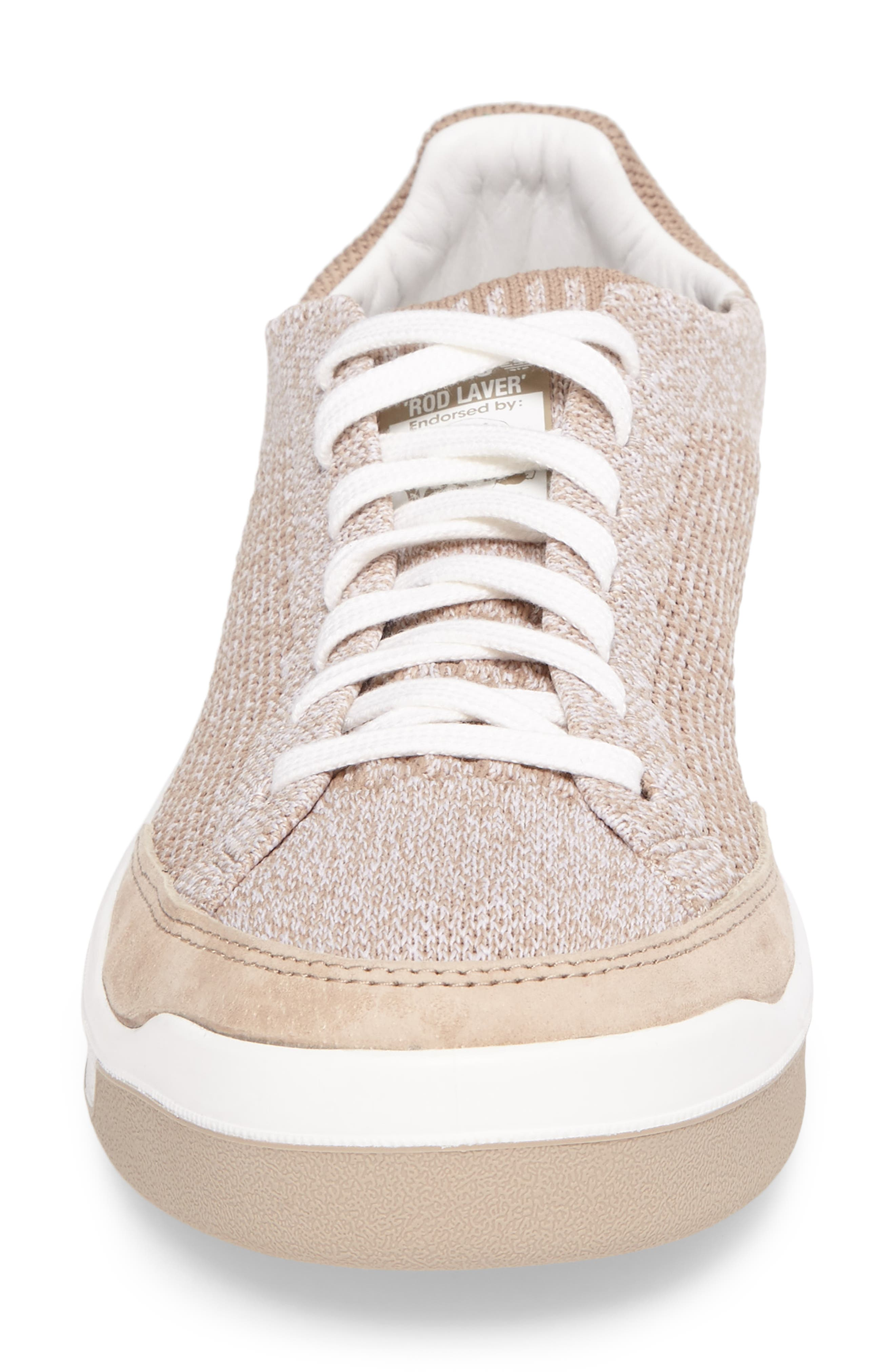 Rod Laver Super Primeknit Sneaker,                             Alternate thumbnail 4, color,                             Khaki/ White/ Crystal White
