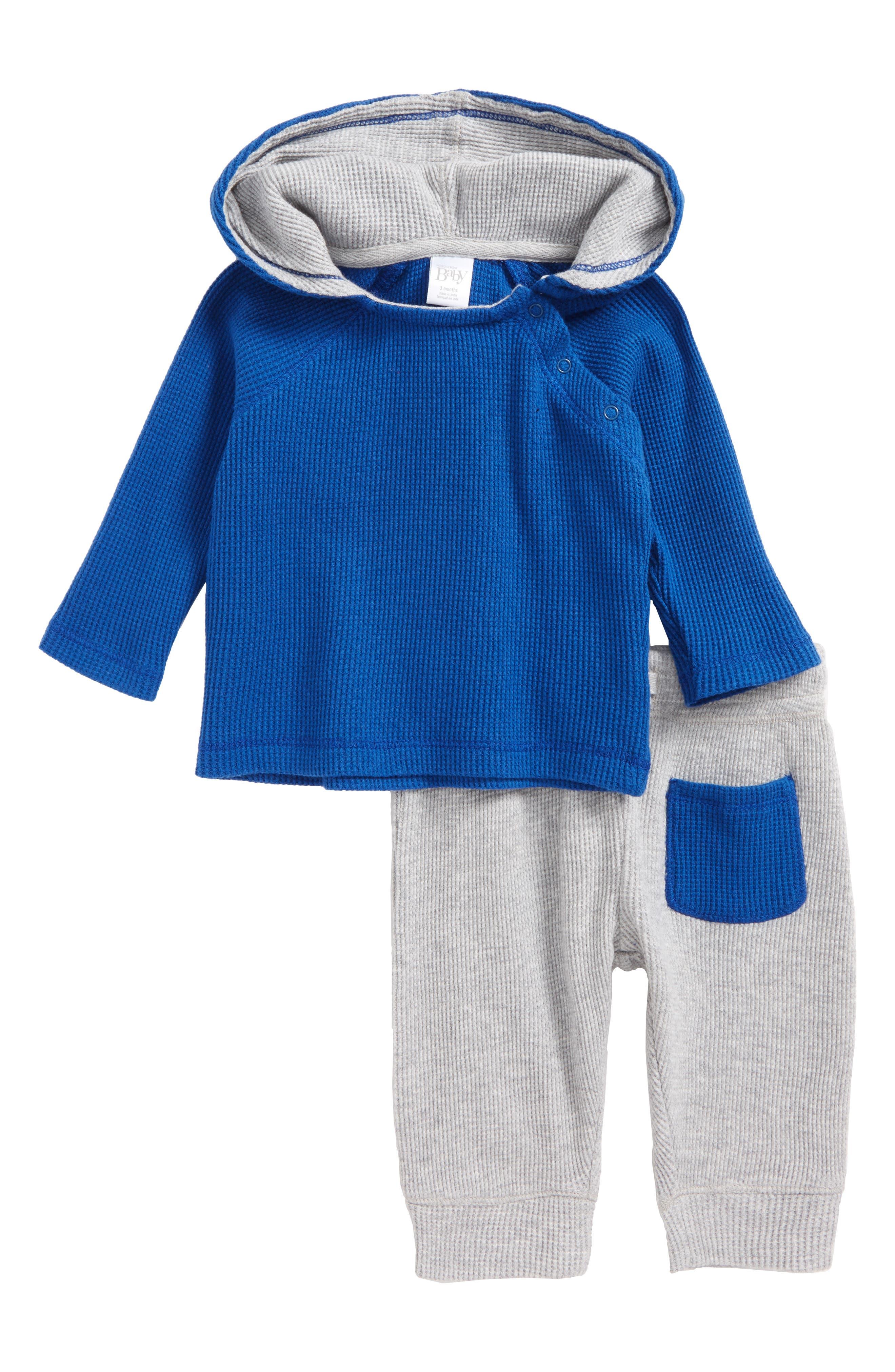 Main Image - Nordstrom Baby Thermal Hooded T-Shirt & Pants Set (Baby Boys)