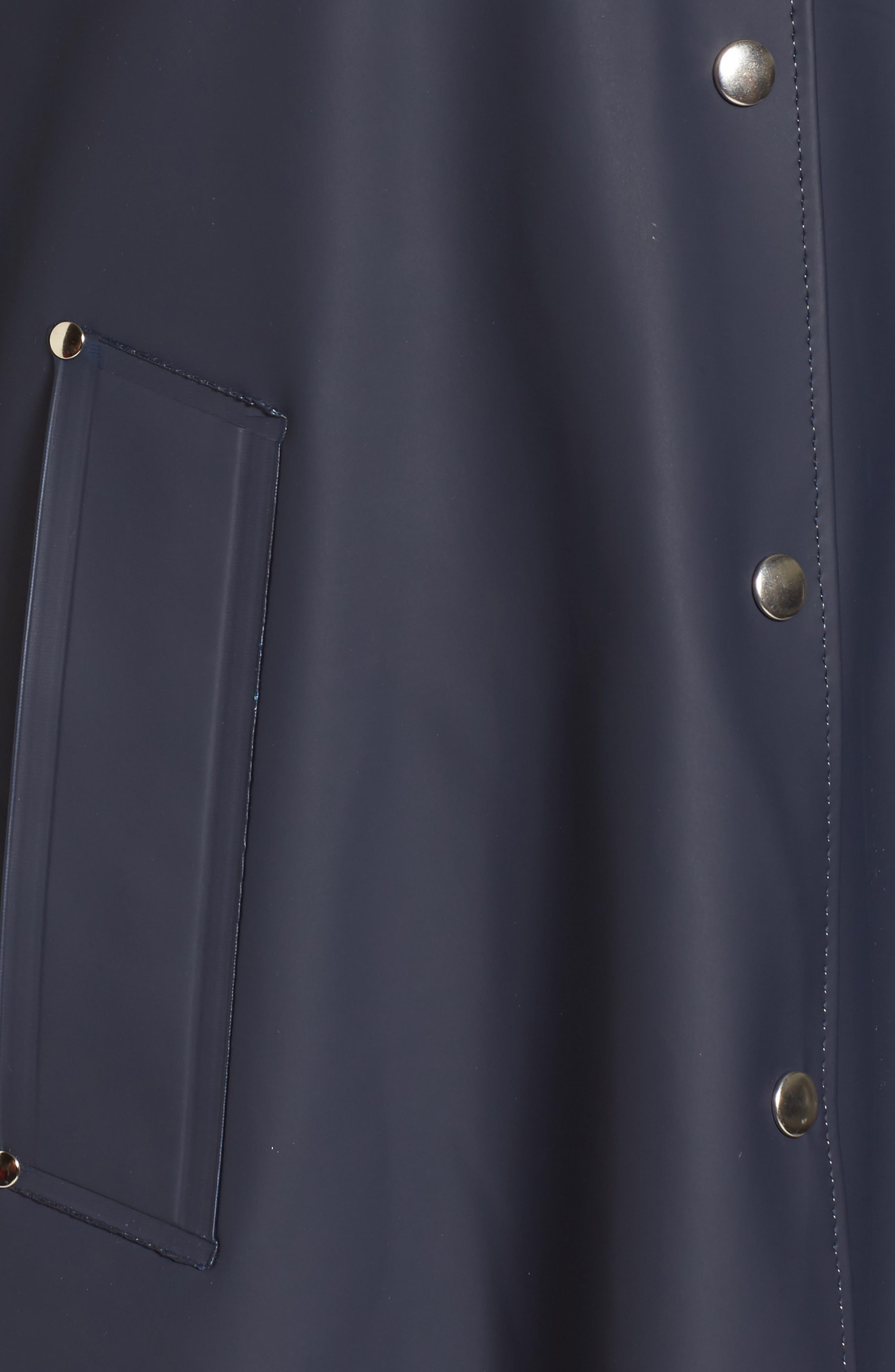 Mosebacke Frame Colorblock Raincoat,                             Alternate thumbnail 5, color,                             Navy/ Faded Rose