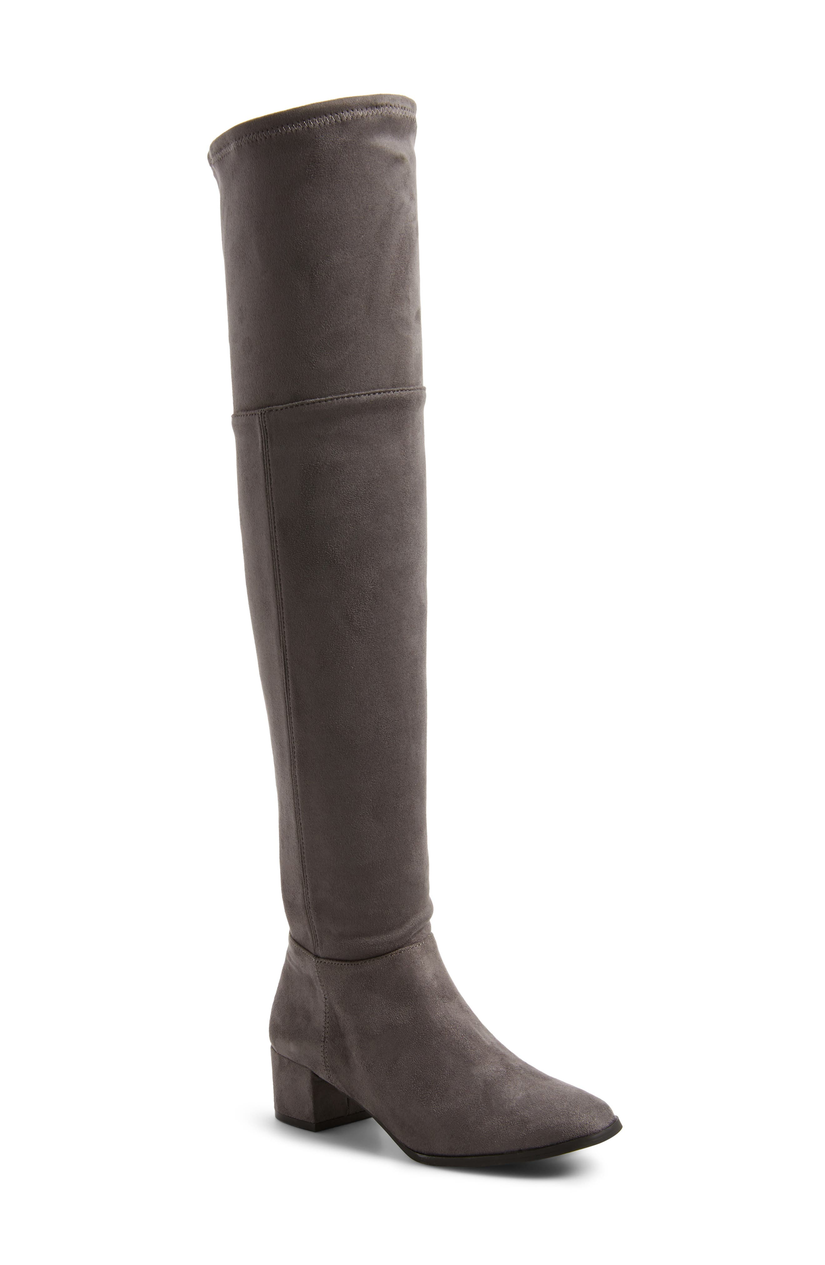 Festive Over the Knee Boot,                             Main thumbnail 1, color,                             Mink
