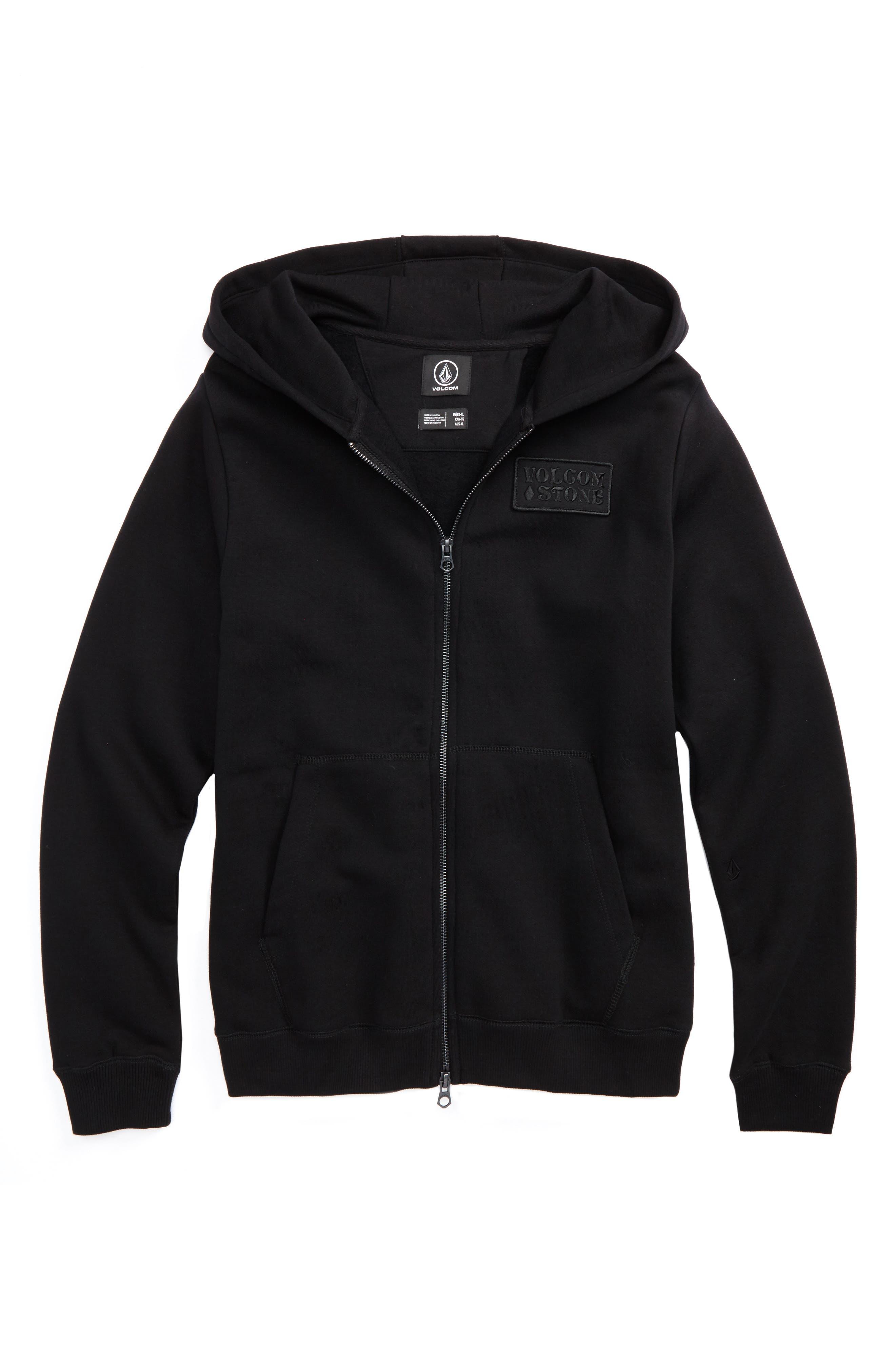 Shop Fleece Hoodie,                         Main,                         color, Black