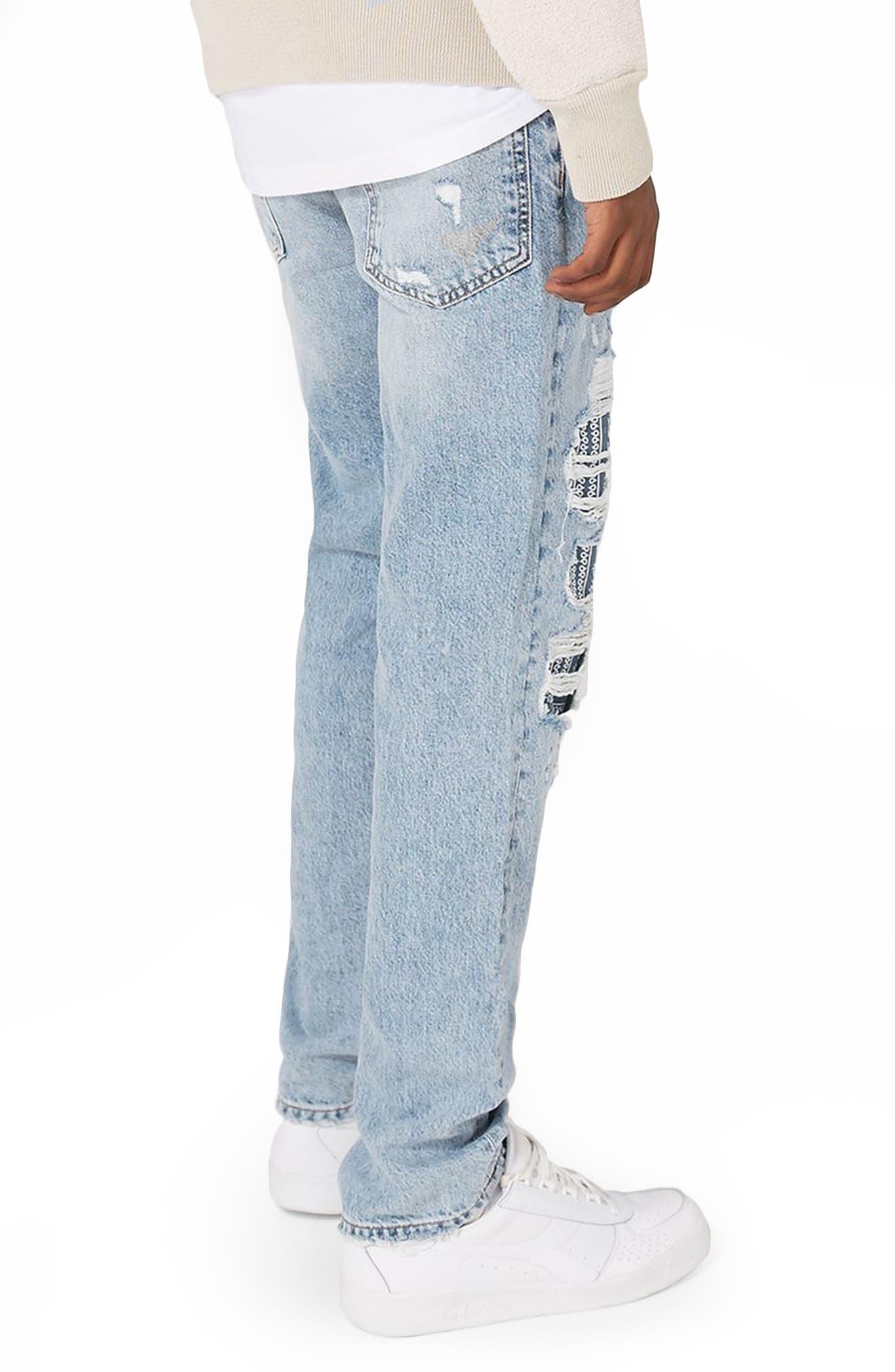 Alternate Image 2  - Topman Patch Standard Fit Jeans