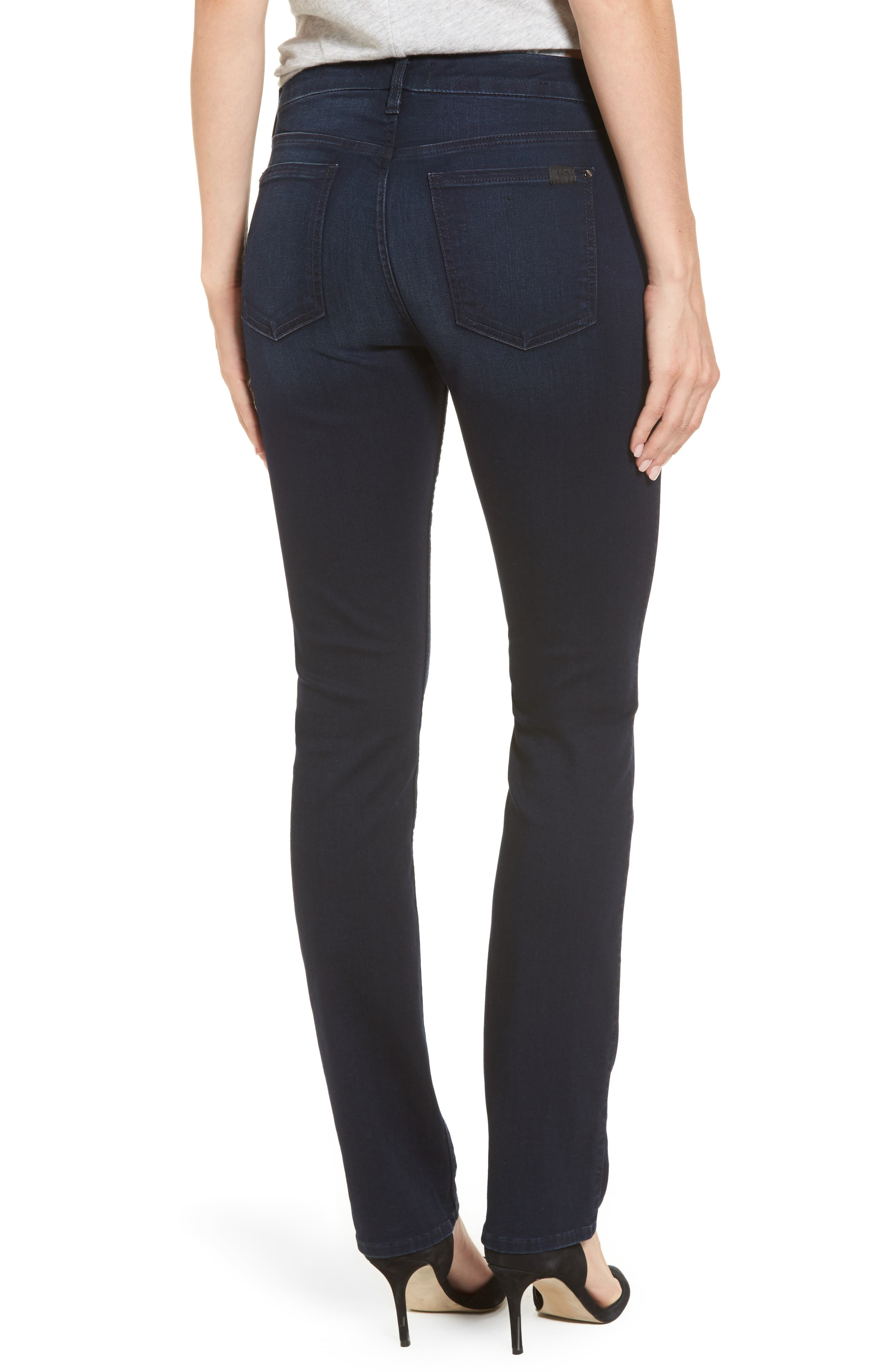 Slim Straight Jeans,                             Alternate thumbnail 3, color,                             Riche Touch Blue/ Black