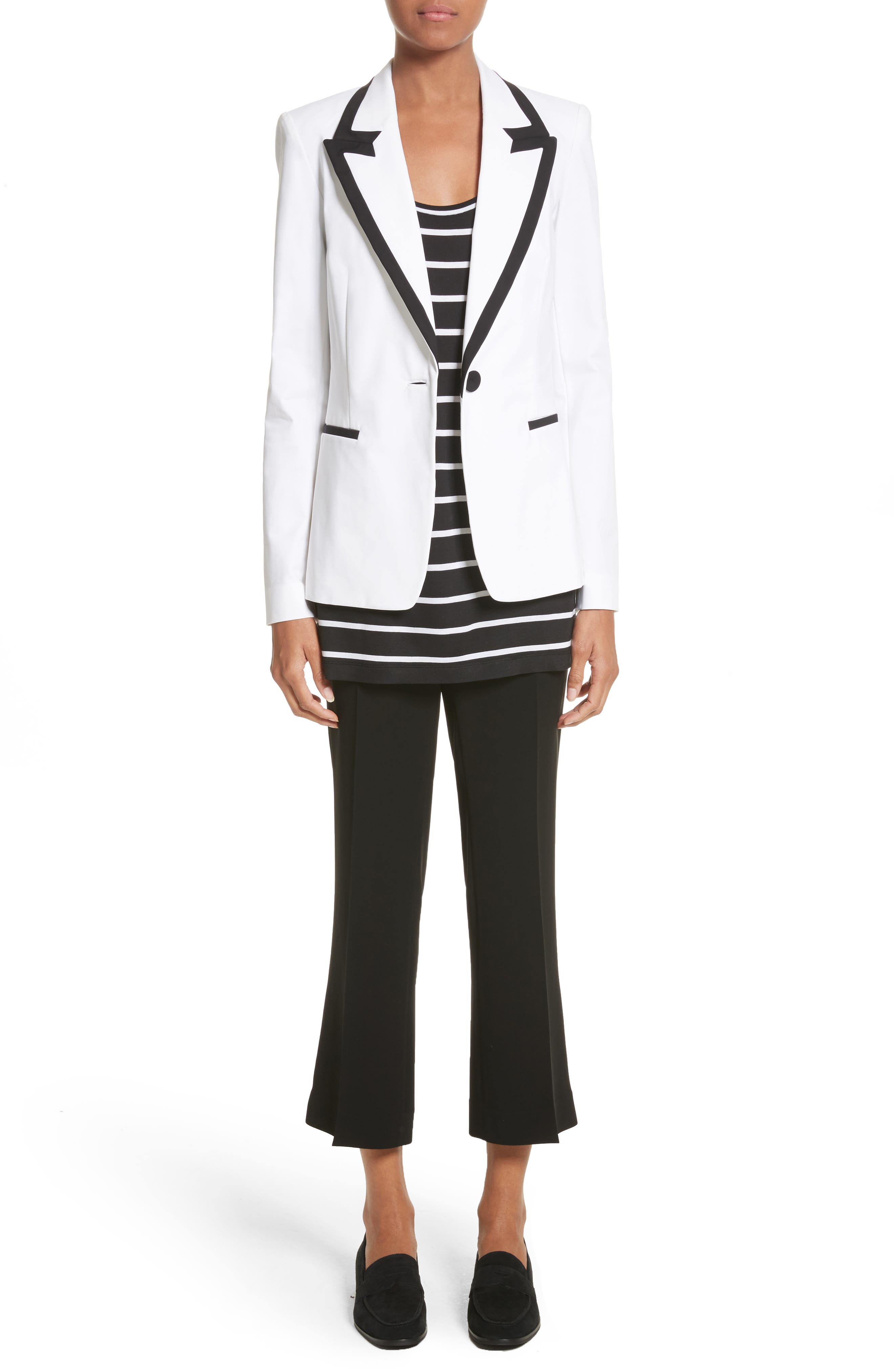 Briley Cotton Blend Blazer,                             Alternate thumbnail 7, color,                             White
