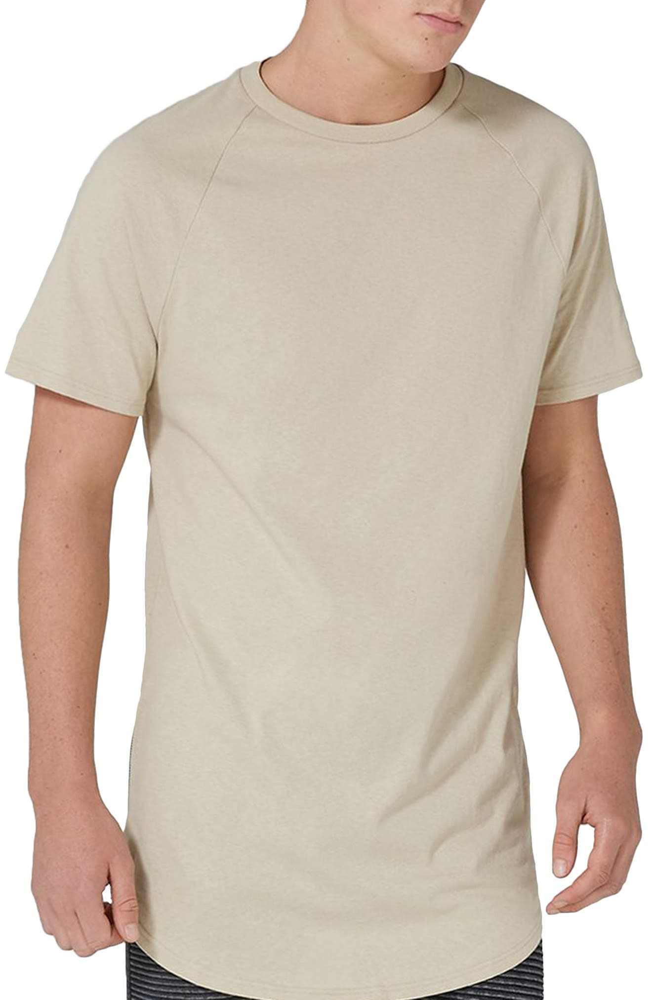 Topman Side Zip Longline T-Shirt