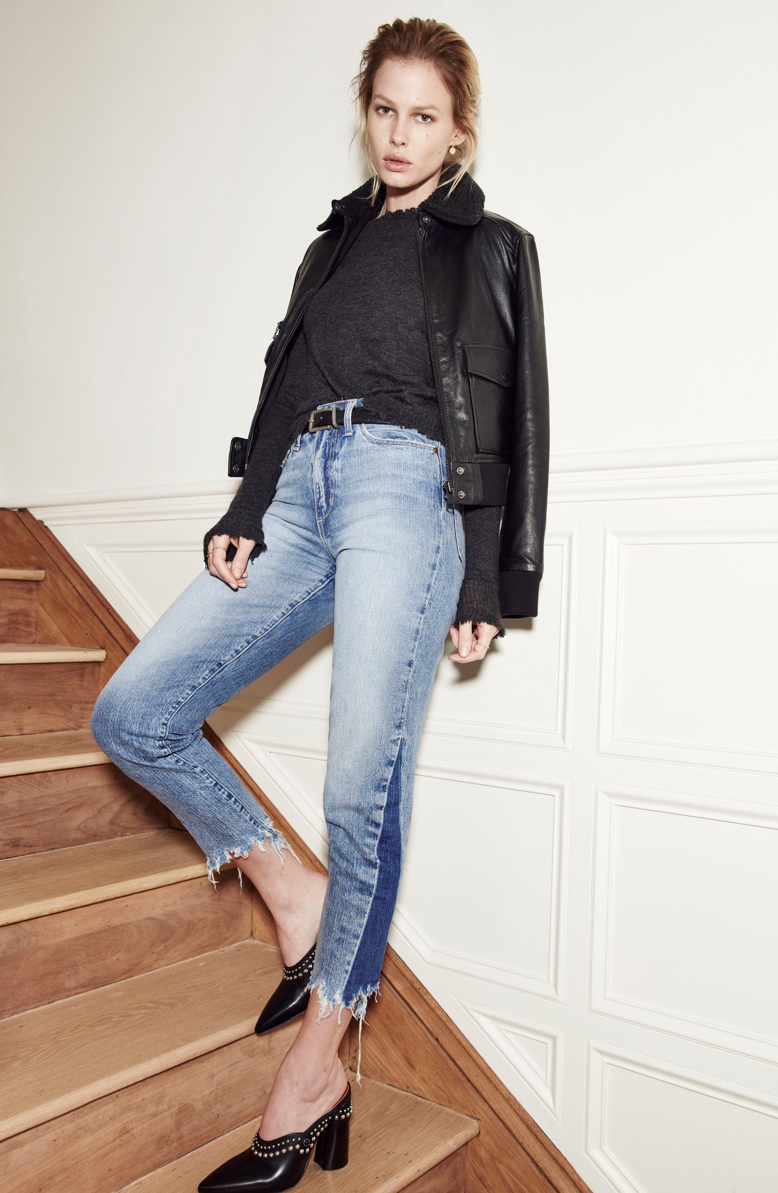 Alternate Image 2  - Joe's Smith Ankle Slim Boyfriend Jeans (Prairie)