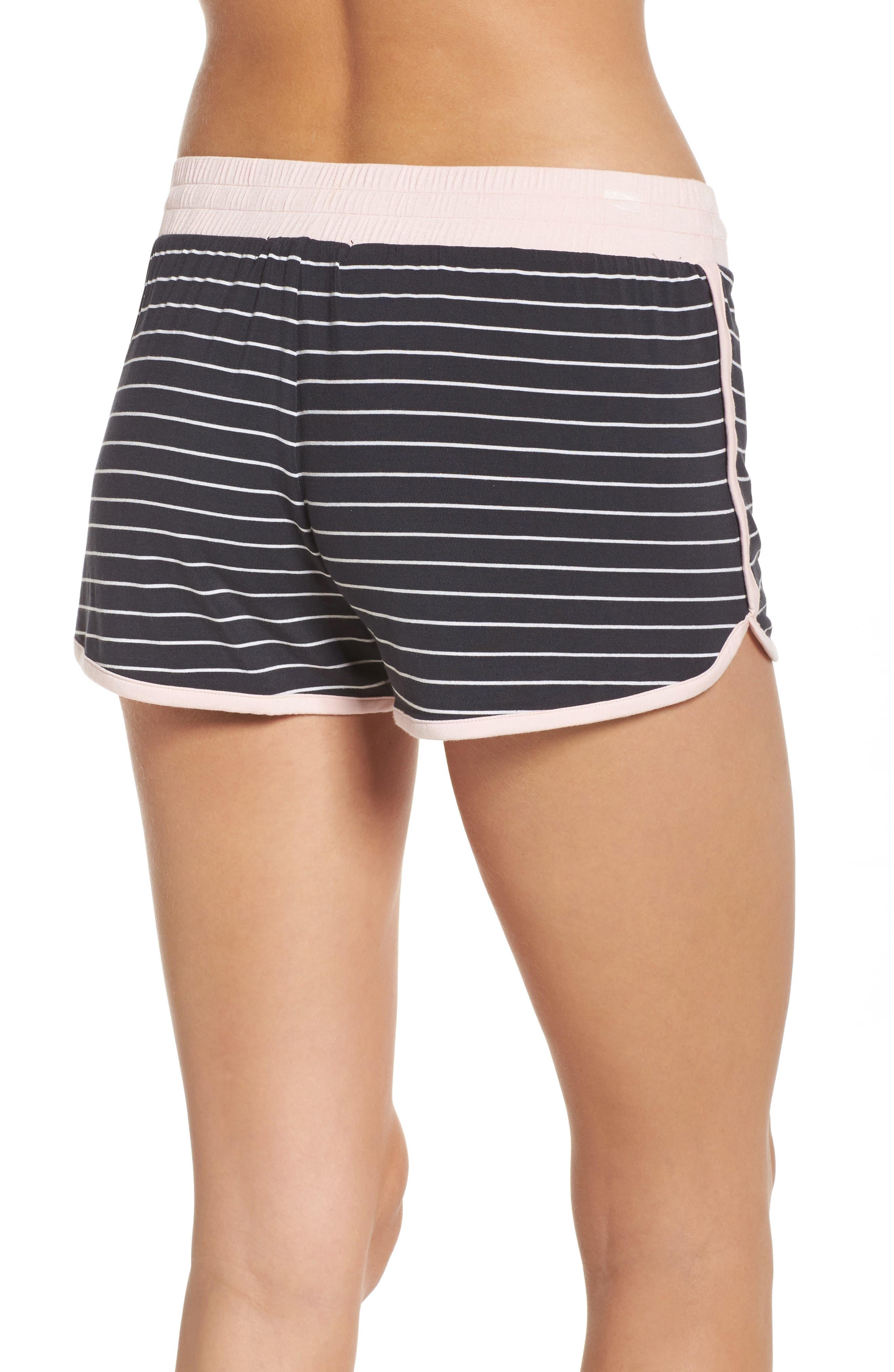 Stripe Jersey Shorts,                             Alternate thumbnail 2, color,                             Smoke