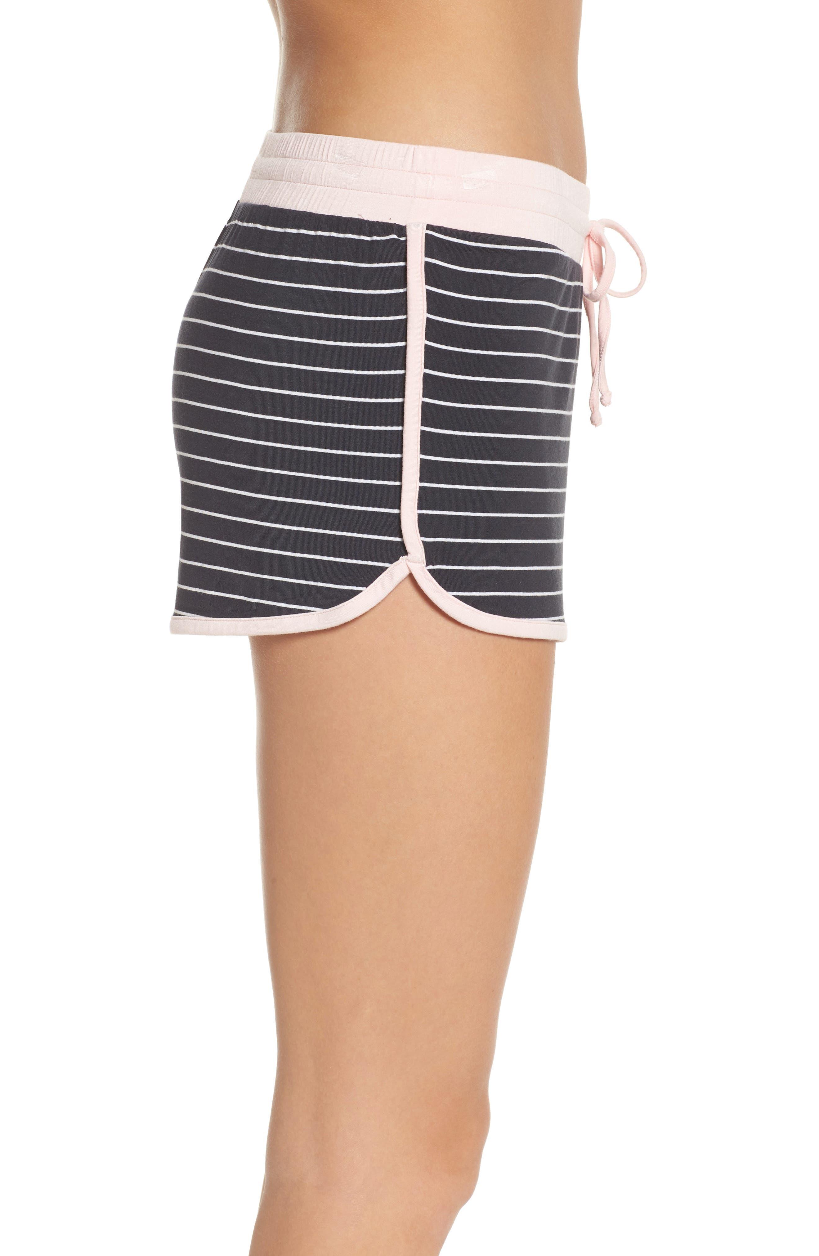 Stripe Jersey Shorts,                             Alternate thumbnail 3, color,                             Smoke