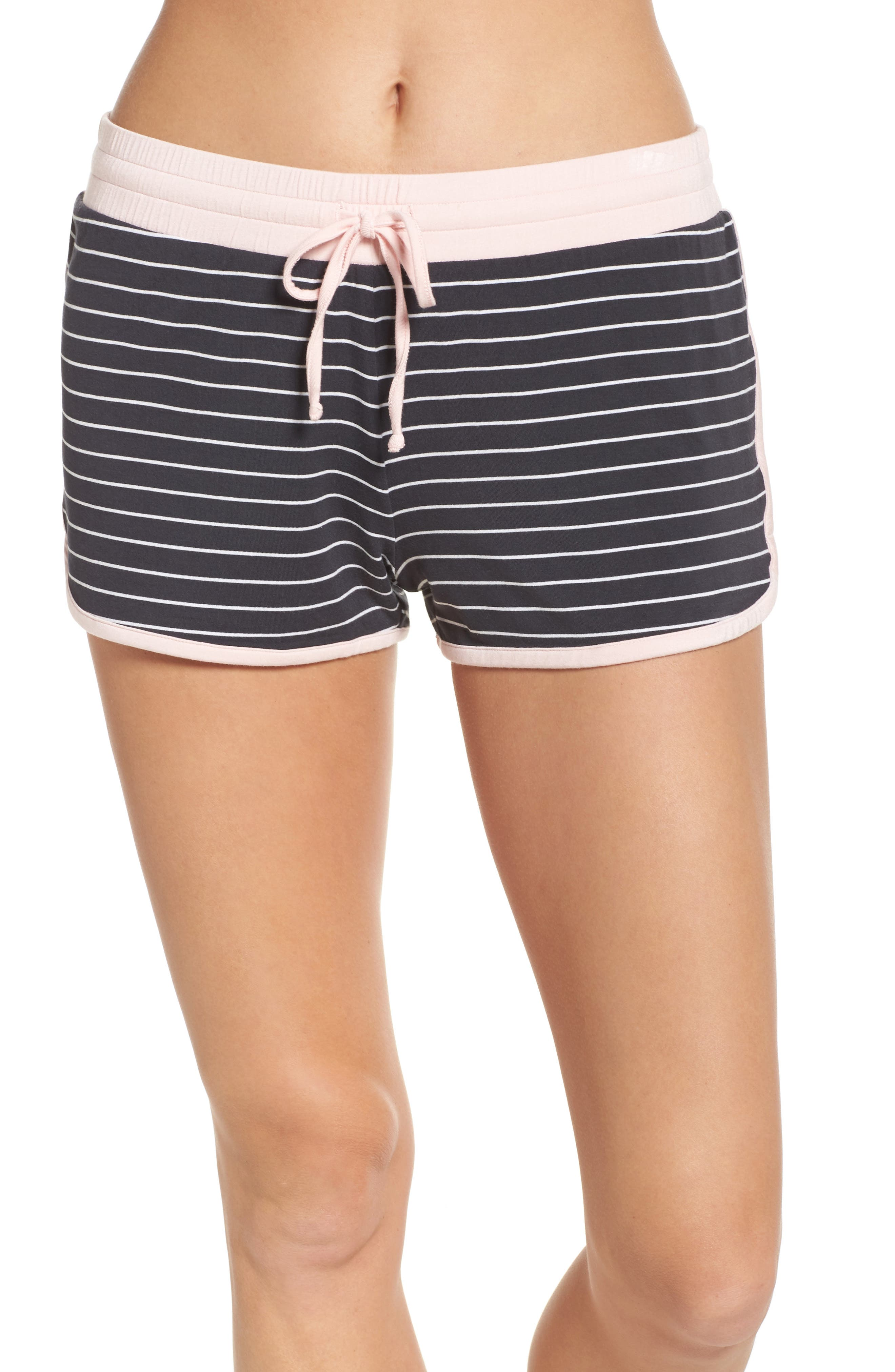Stripe Jersey Shorts,                             Main thumbnail 1, color,                             Smoke