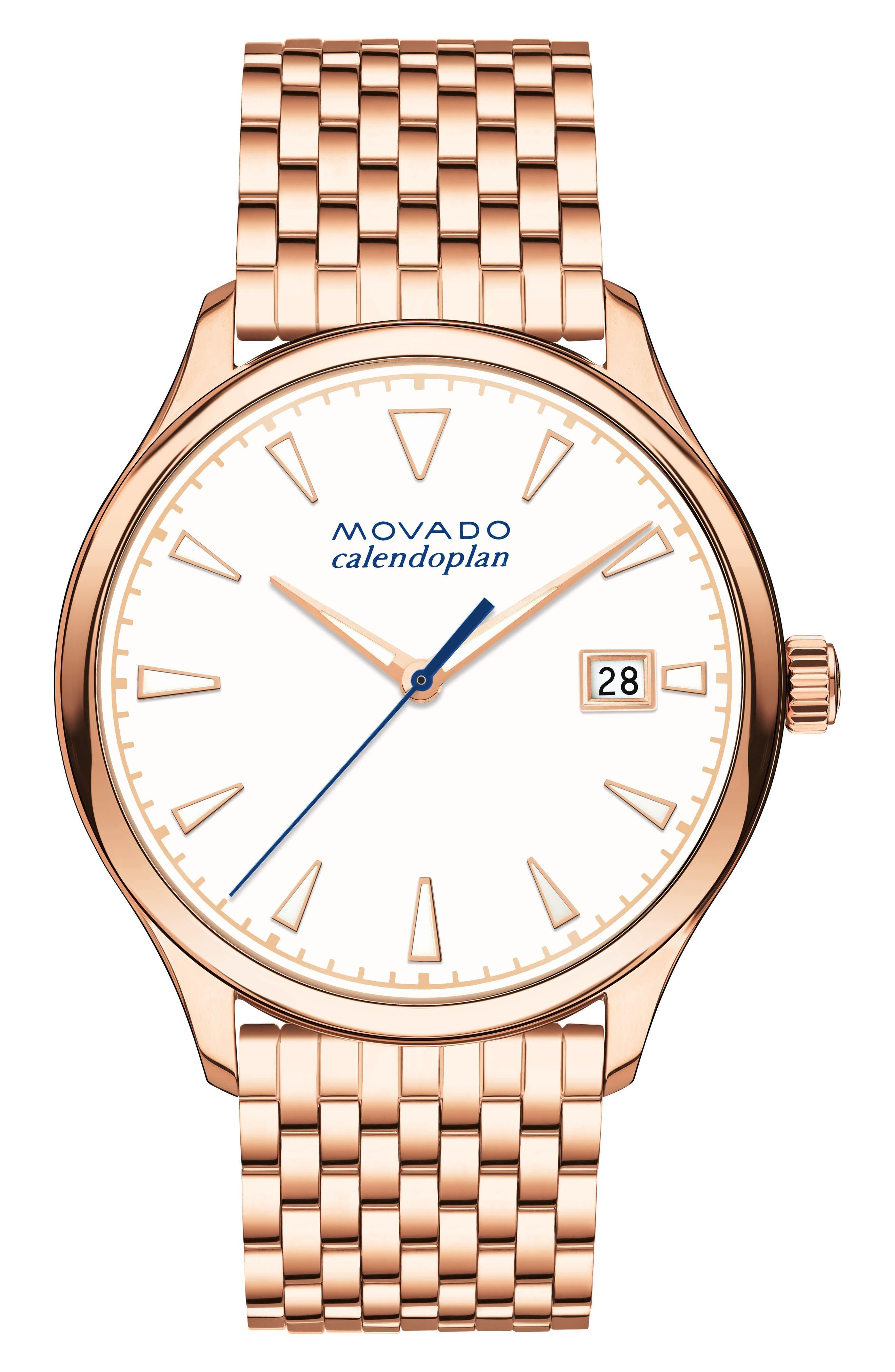 Heritage Bracelet Watch, 36mm,                         Main,                         color, Rose Gold/ White/ Rose Gold