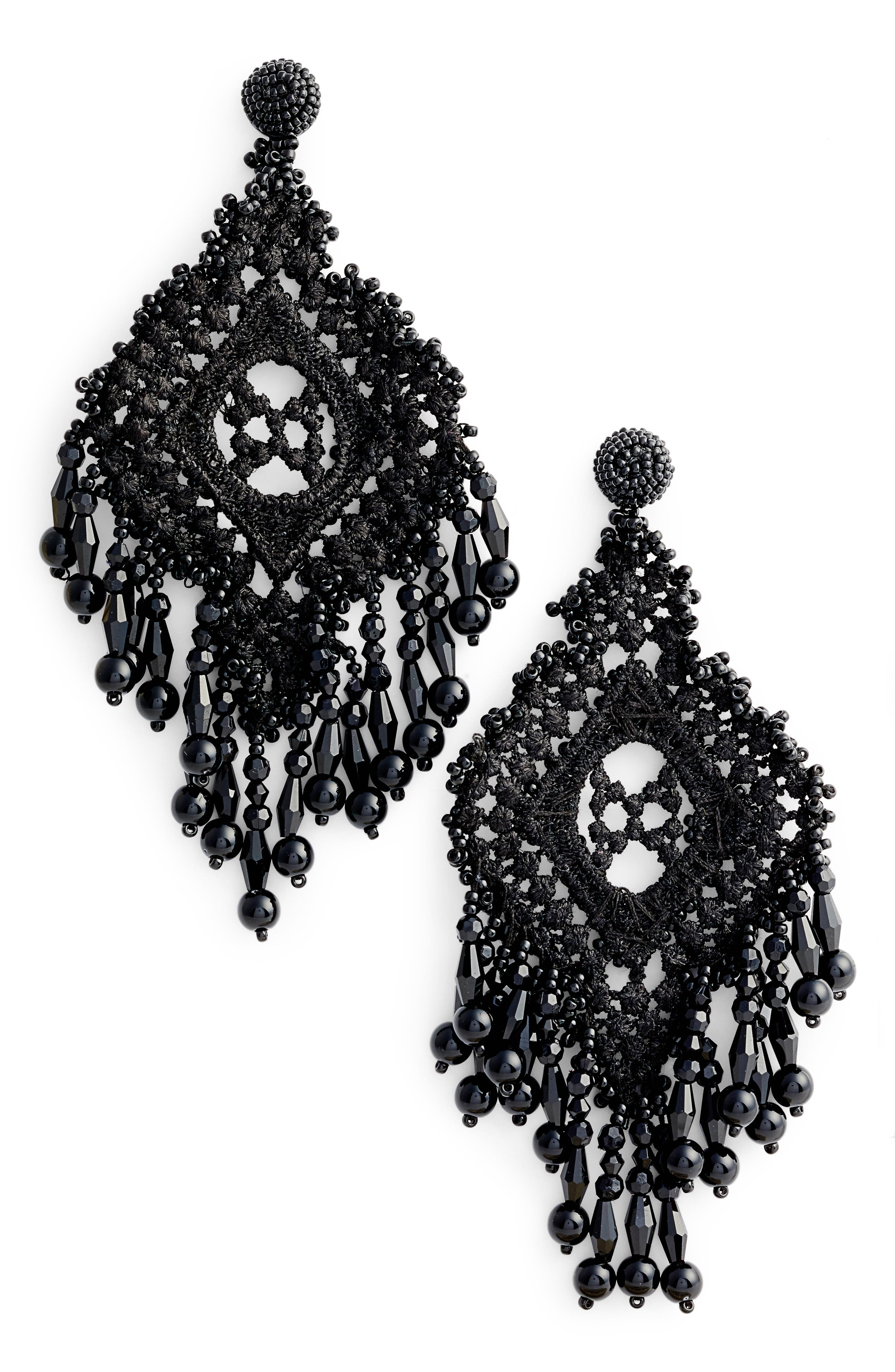kate spade new york lace it up statement earrings