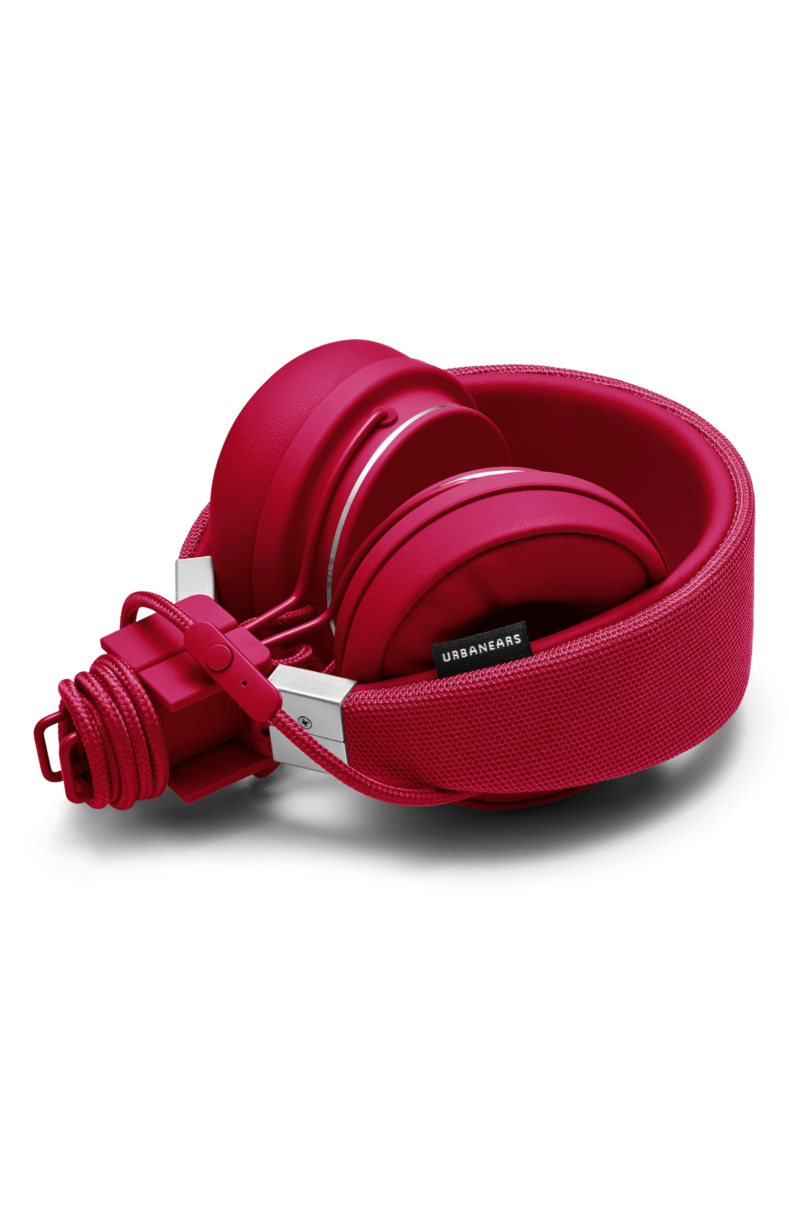 Plattan II On-Ear Headphones,                             Alternate thumbnail 3, color,                             Beryl Red
