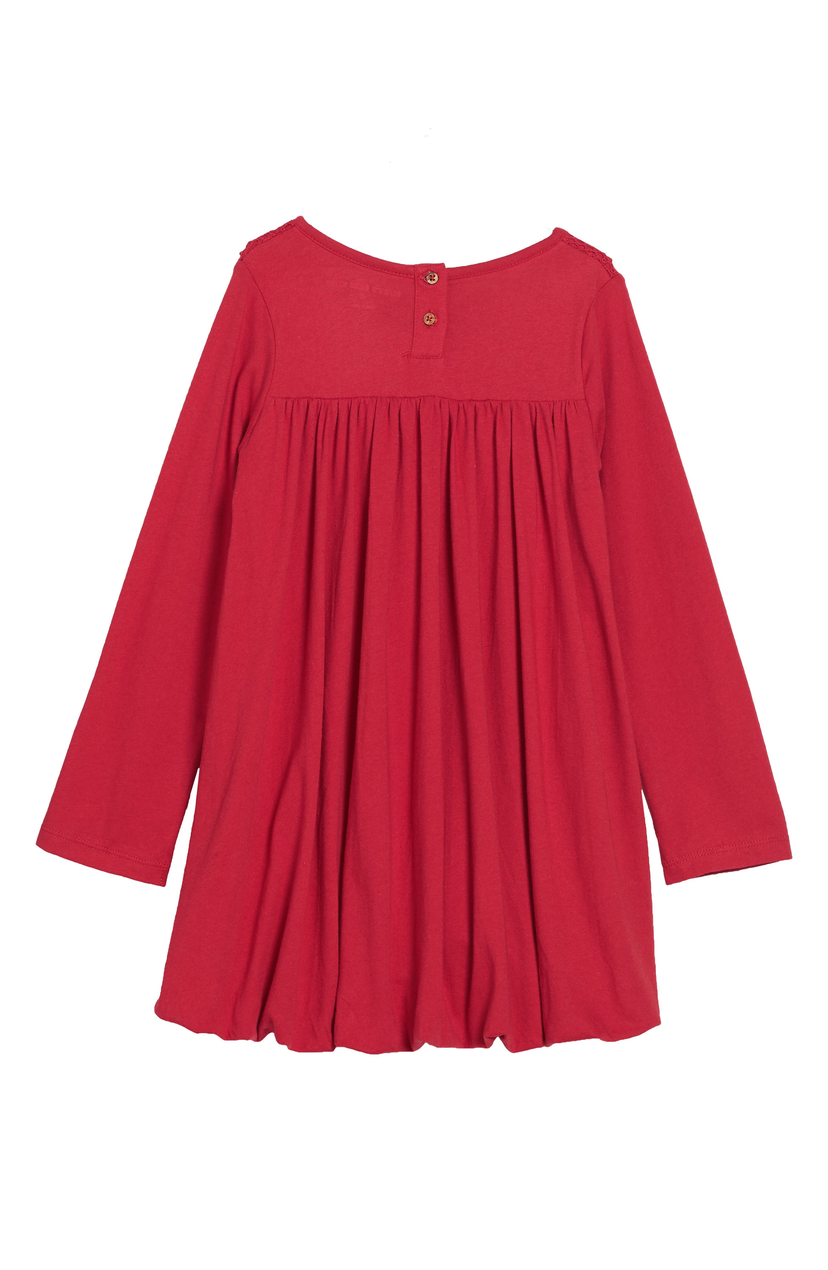 Alternate Image 2  - Burt's Bees Baby Organic Cotton Bubble Dress (Toddler Girls & Little Girls)