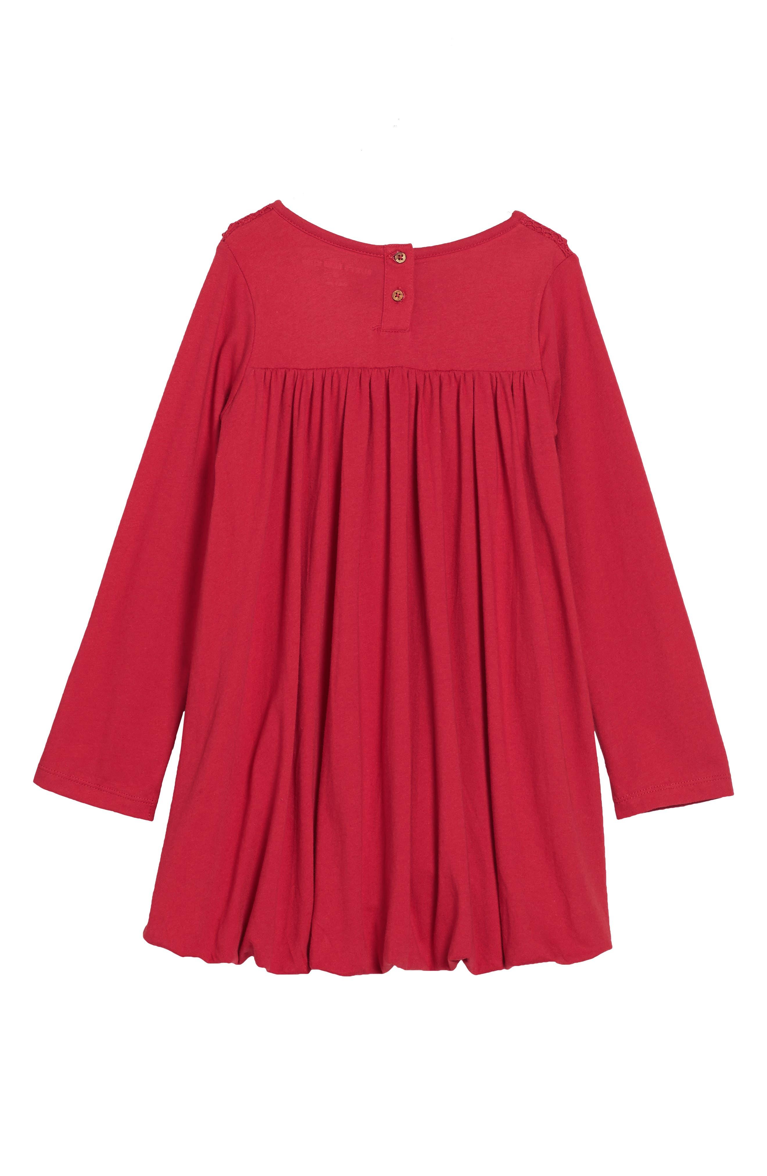 Organic Cotton Bubble Dress,                             Alternate thumbnail 2, color,                             Cranberry