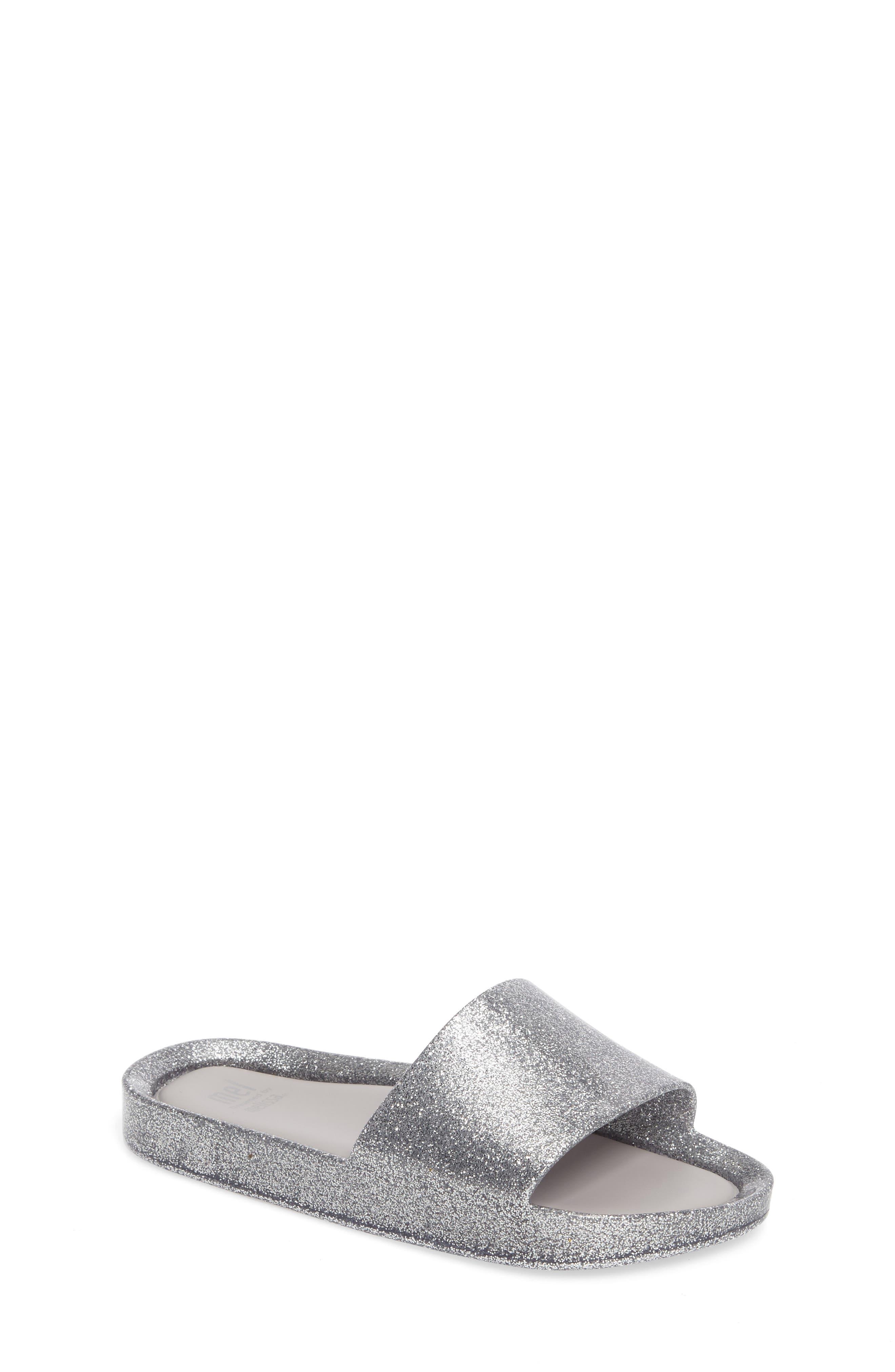 Beach Slide,                         Main,                         color, Silver Glass Glitter