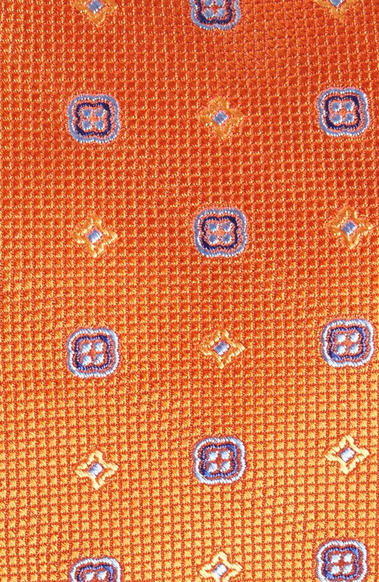 Neat Silk Tie,                             Alternate thumbnail 2, color,                             Pumpkin