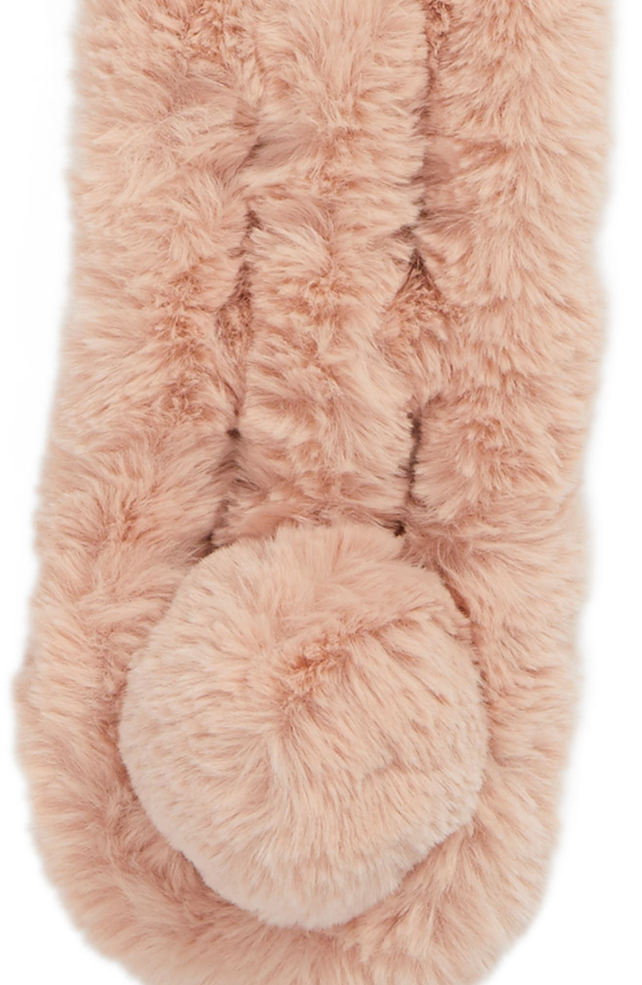 Faux Fur Scarf,                             Alternate thumbnail 4, color,                             Pink