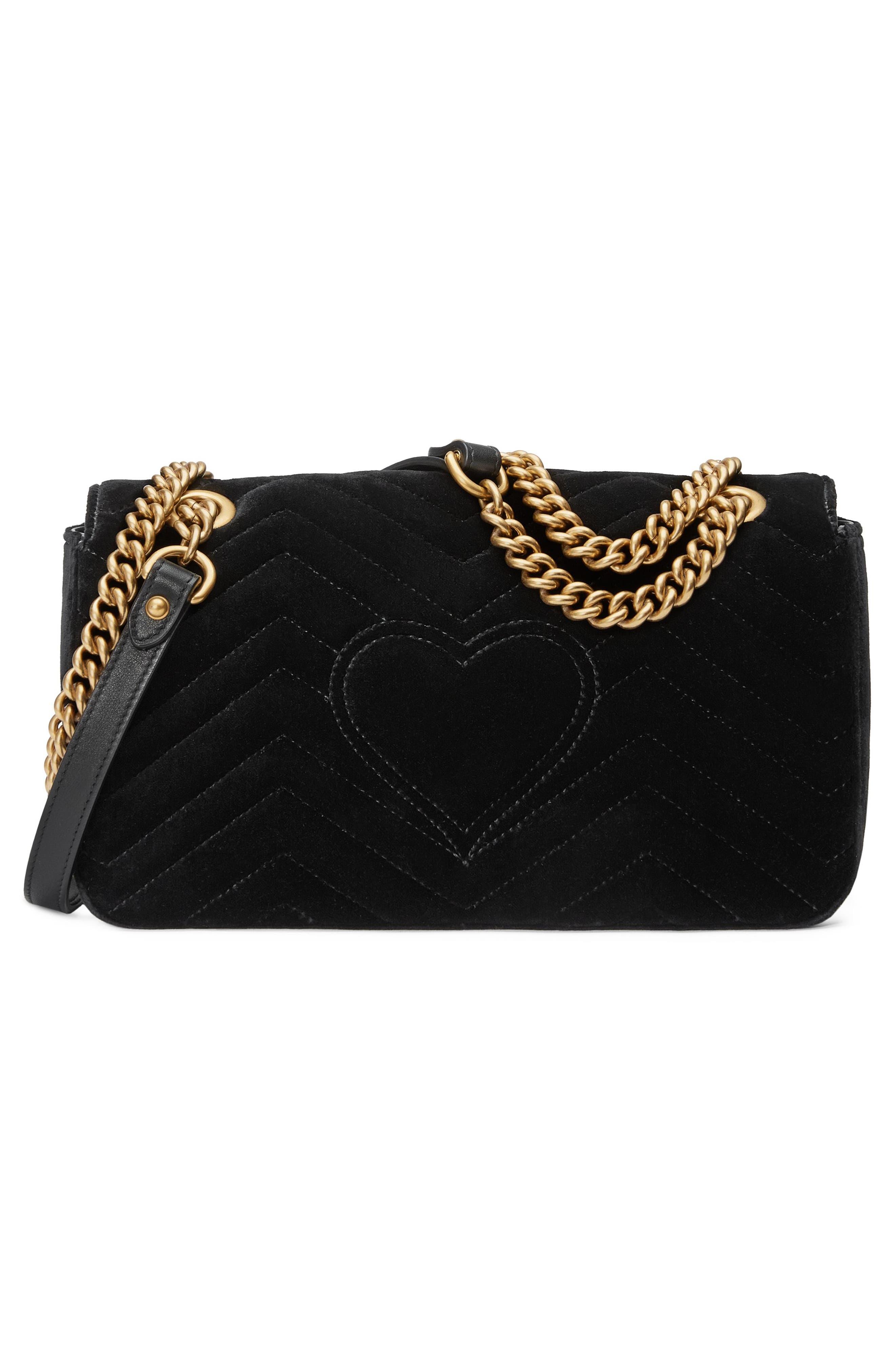 Alternate Image 2  - Gucci GG Marmont 2.0 Crystal Embellished Velvet Crossbody Bag