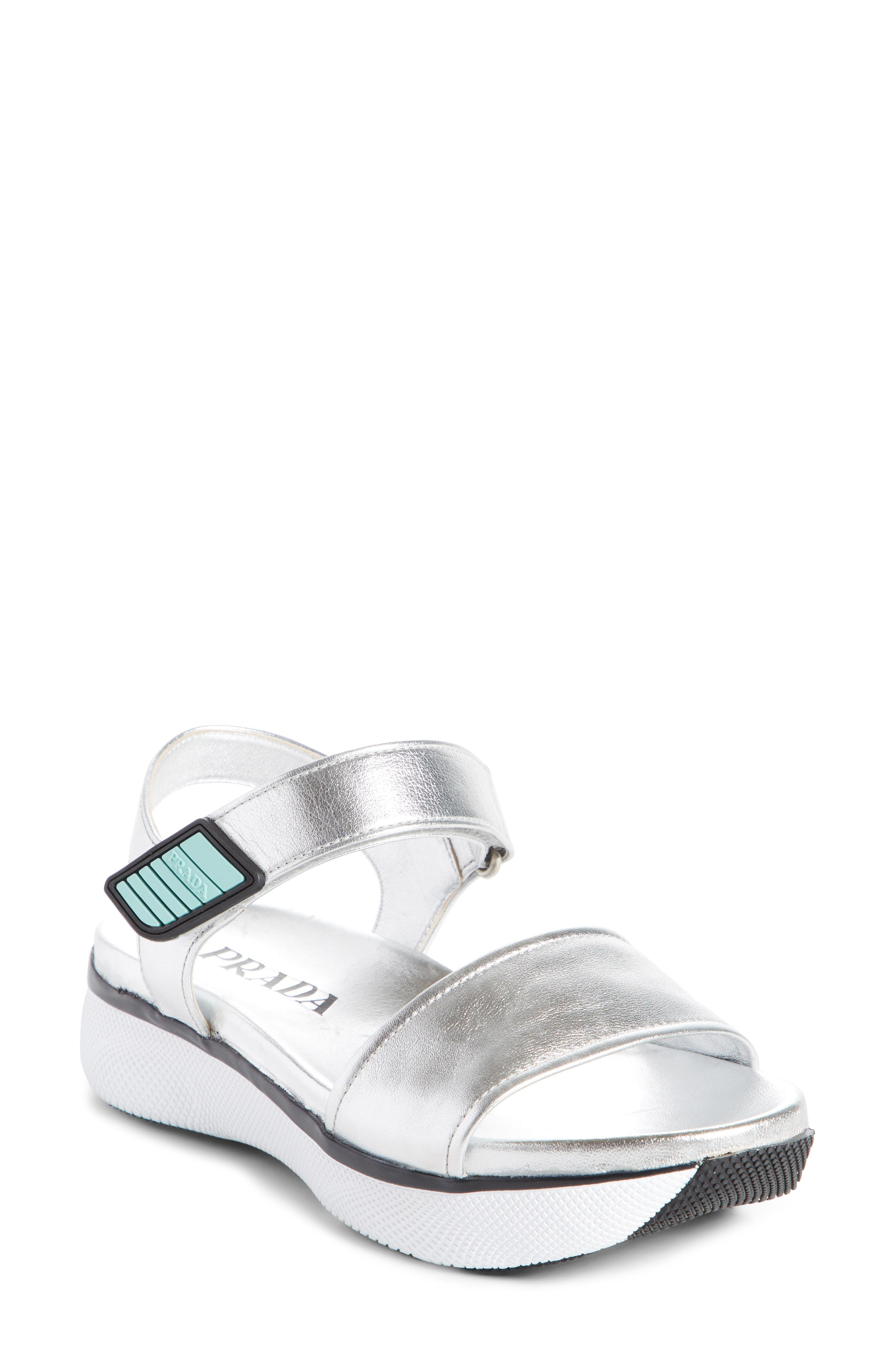 Platform Sandal,                         Main,                         color, Silver