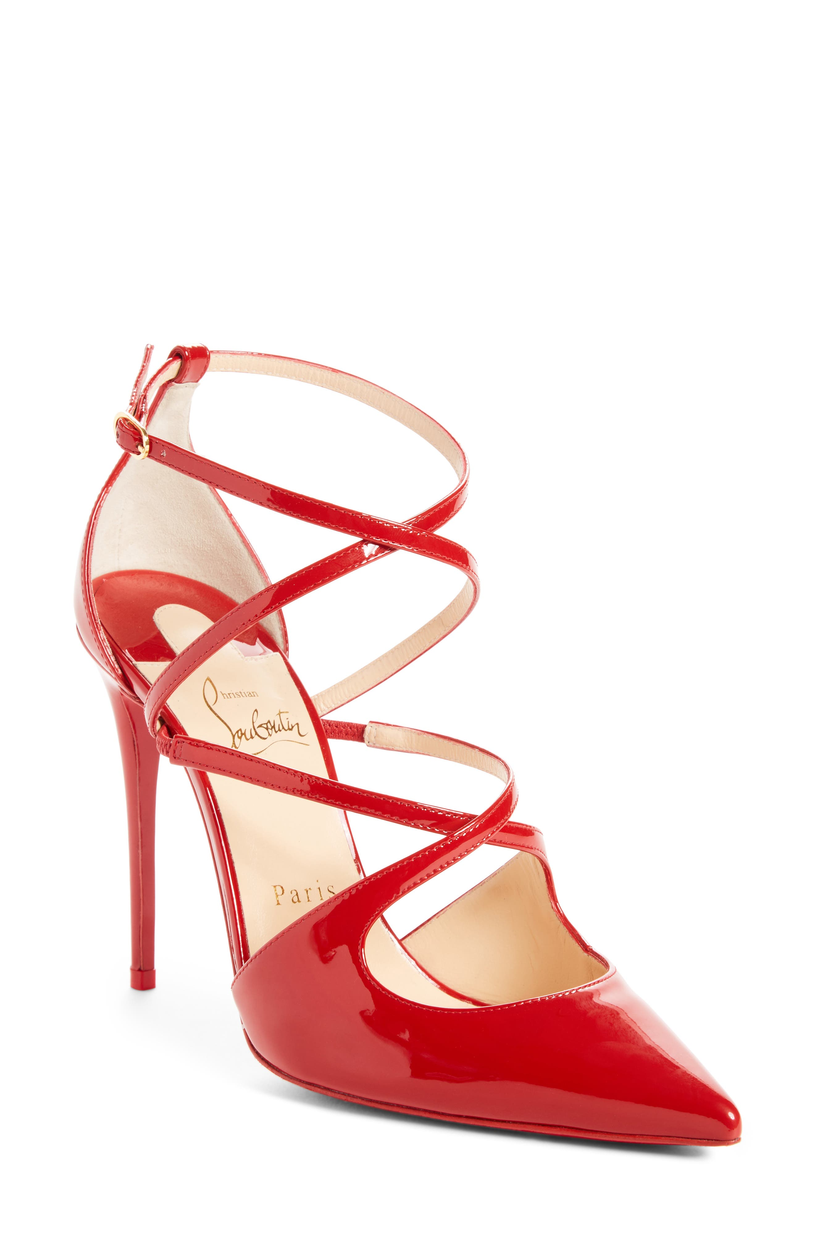 Crossfliketa Pump,                             Main thumbnail 1, color,                             Flamenco Red