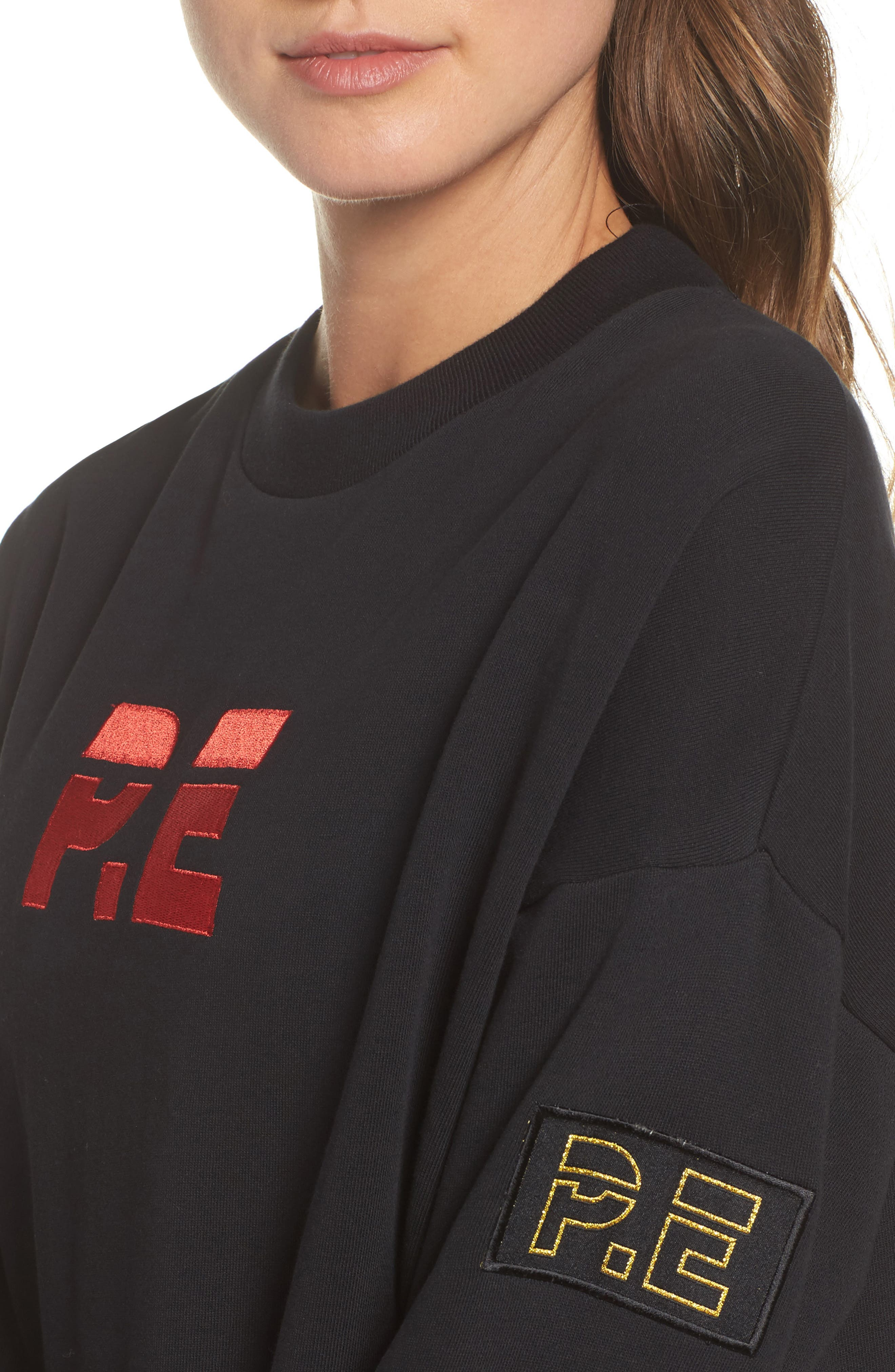 Get Set Sweatshirt,                             Alternate thumbnail 4, color,                             Black