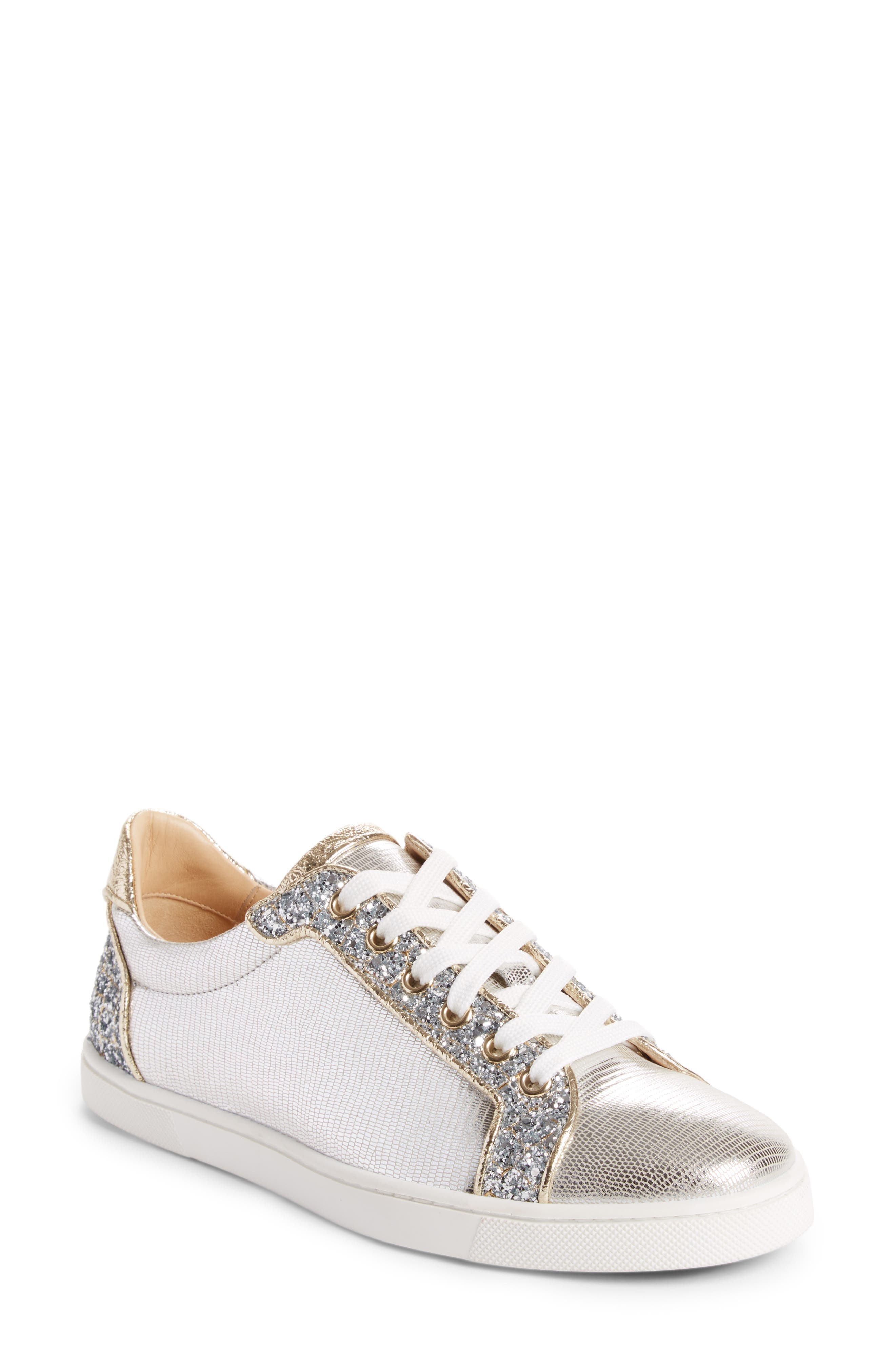 Christian Louboutin Seava Embellished Lizardskin Embossed Sneaker (Women)