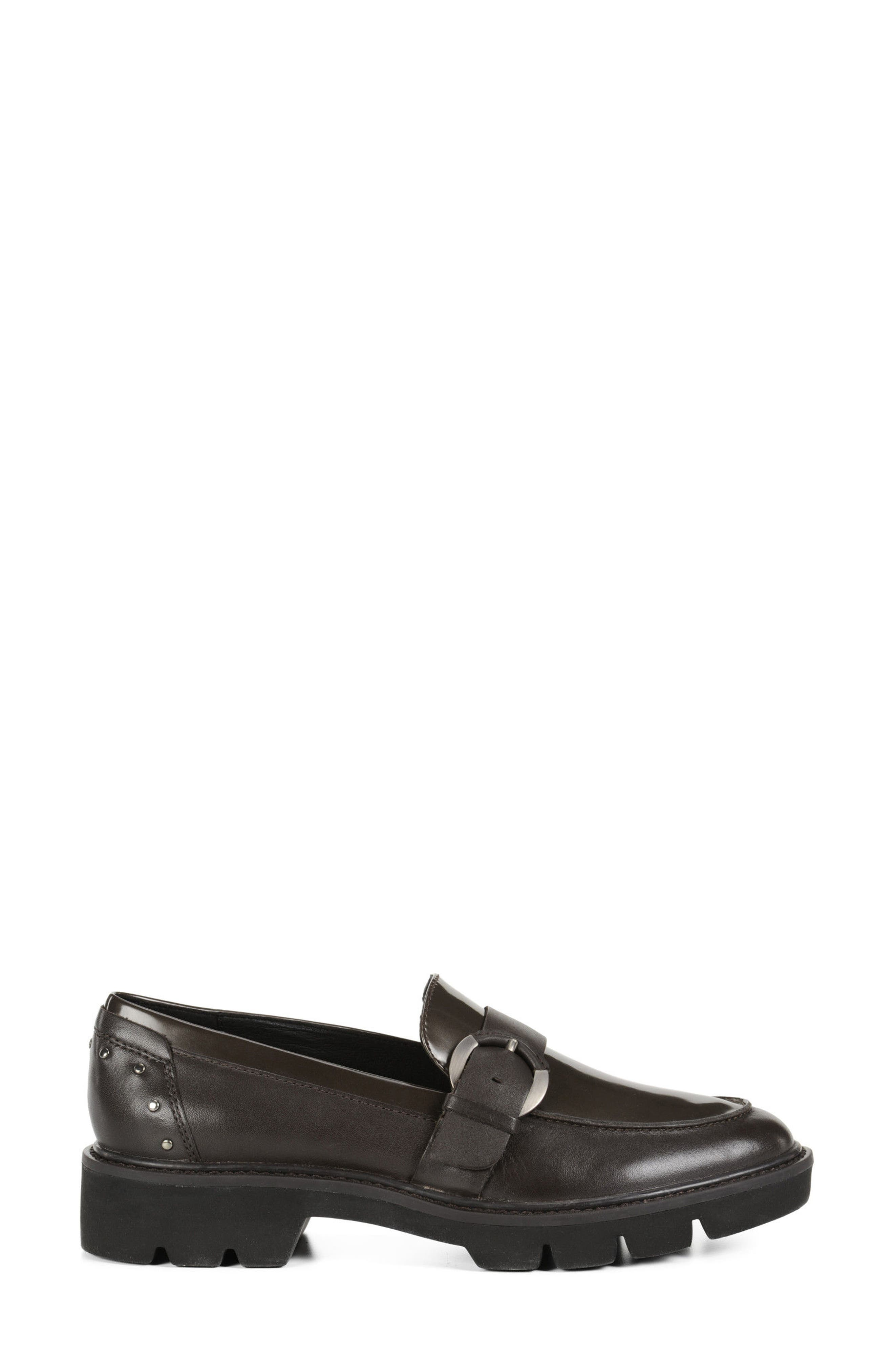 Quinlynn Loafer,                             Alternate thumbnail 3, color,                             Brown Leather