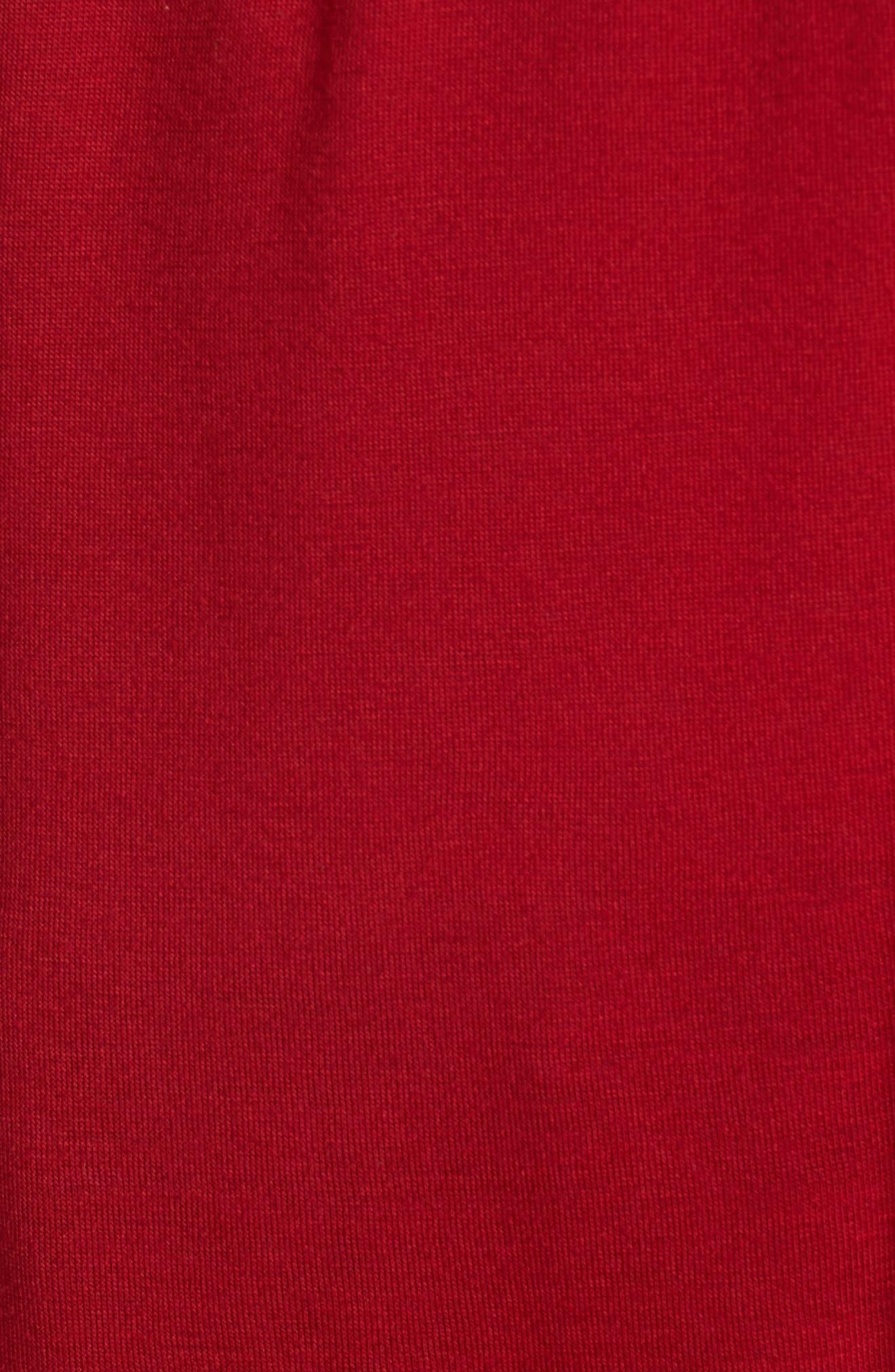 Luck Off the Shoulder Top,                             Alternate thumbnail 5, color,                             Crimson