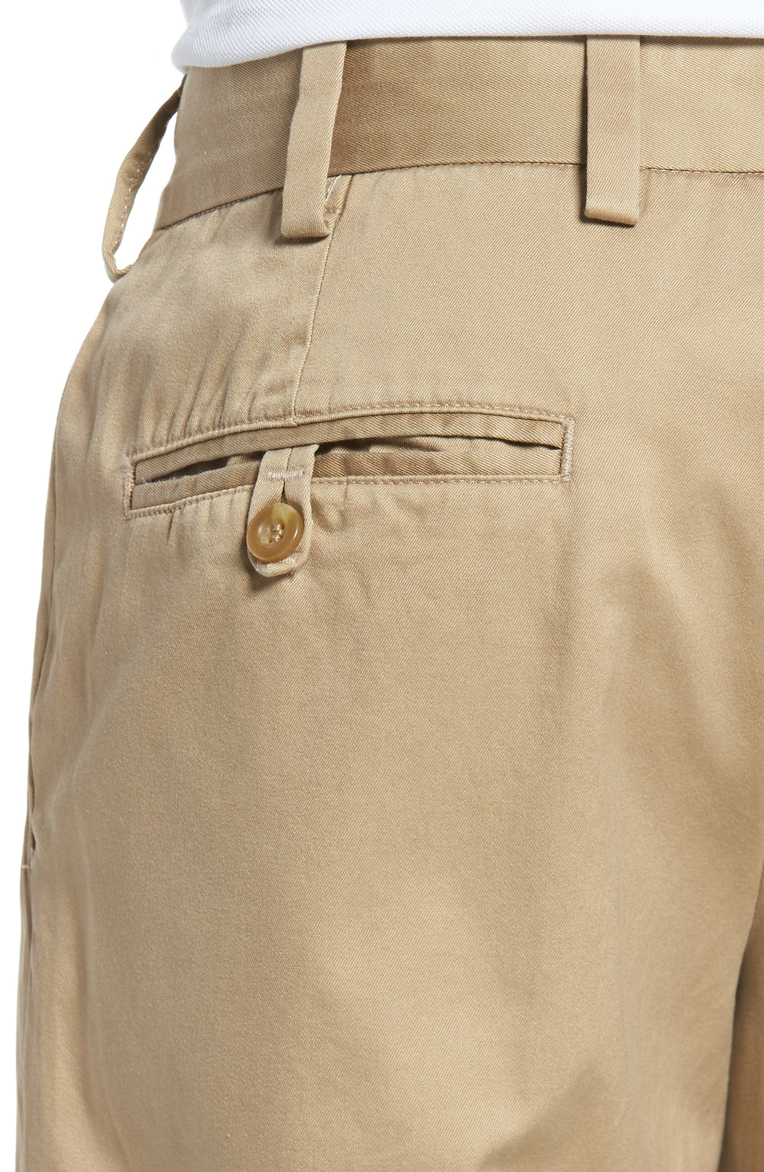 Straight Fit Chamois Cloth Pants,                             Alternate thumbnail 4, color,                             Camel