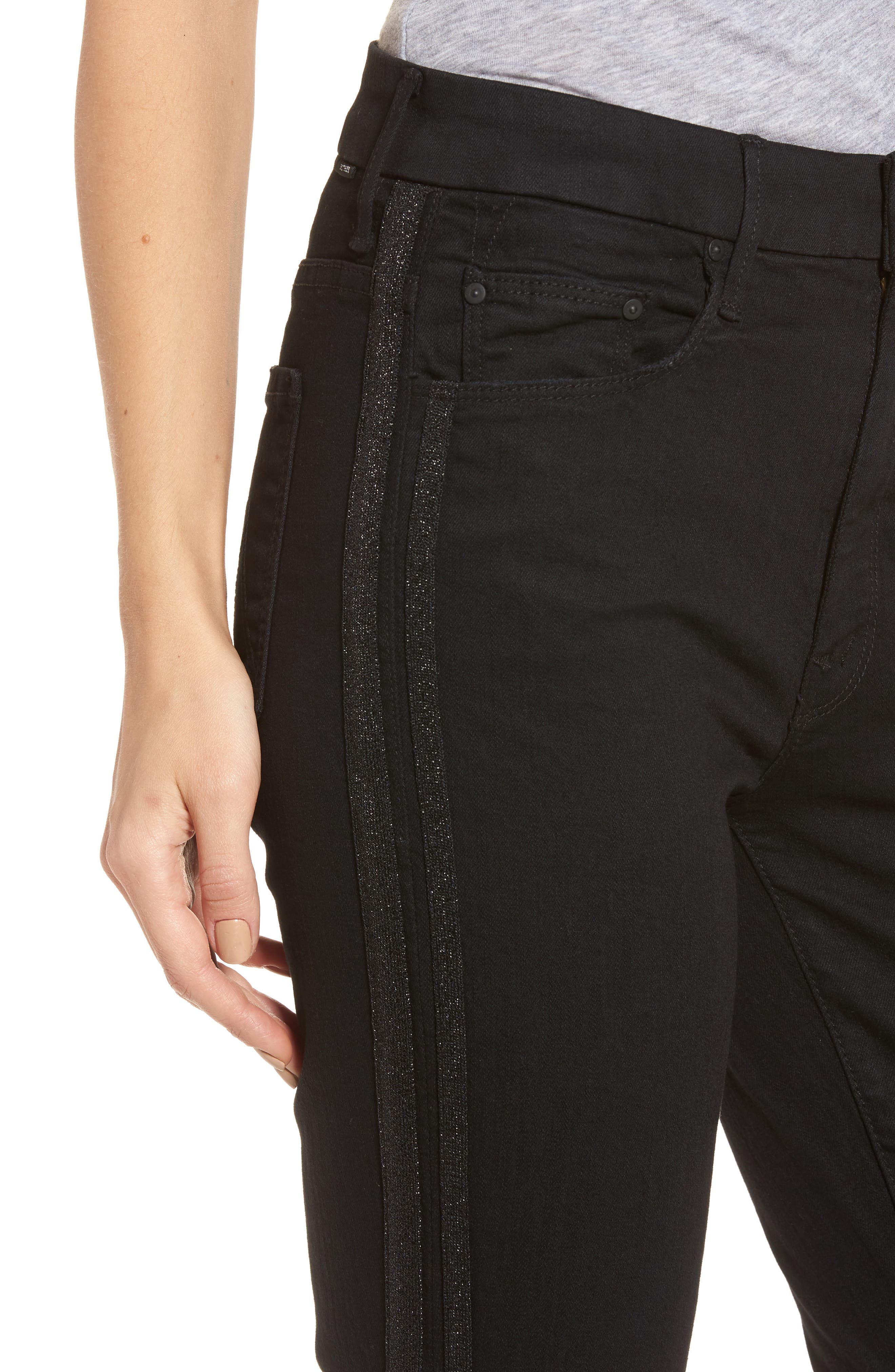 The Looker Frayed Ankle Jeans,                             Alternate thumbnail 4, color,                             Guilty Party Racer