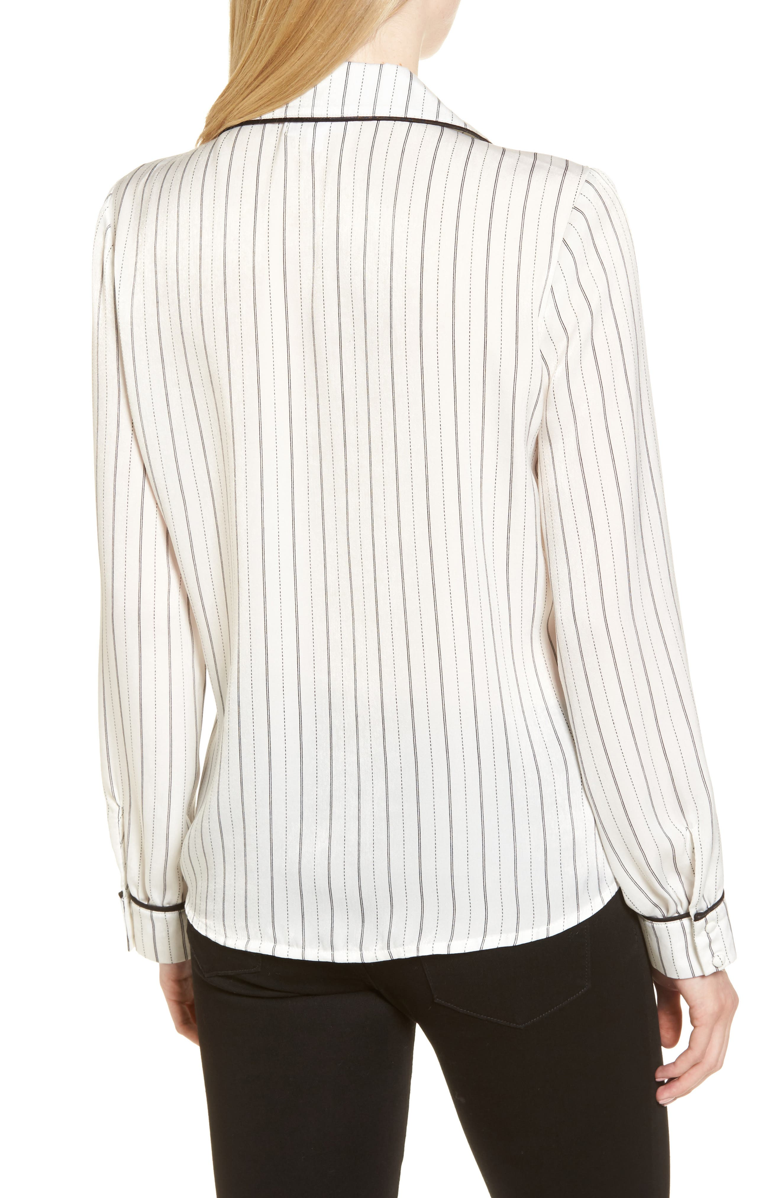 Double Breasted Pajama Top,                             Alternate thumbnail 2, color,                             Stripe