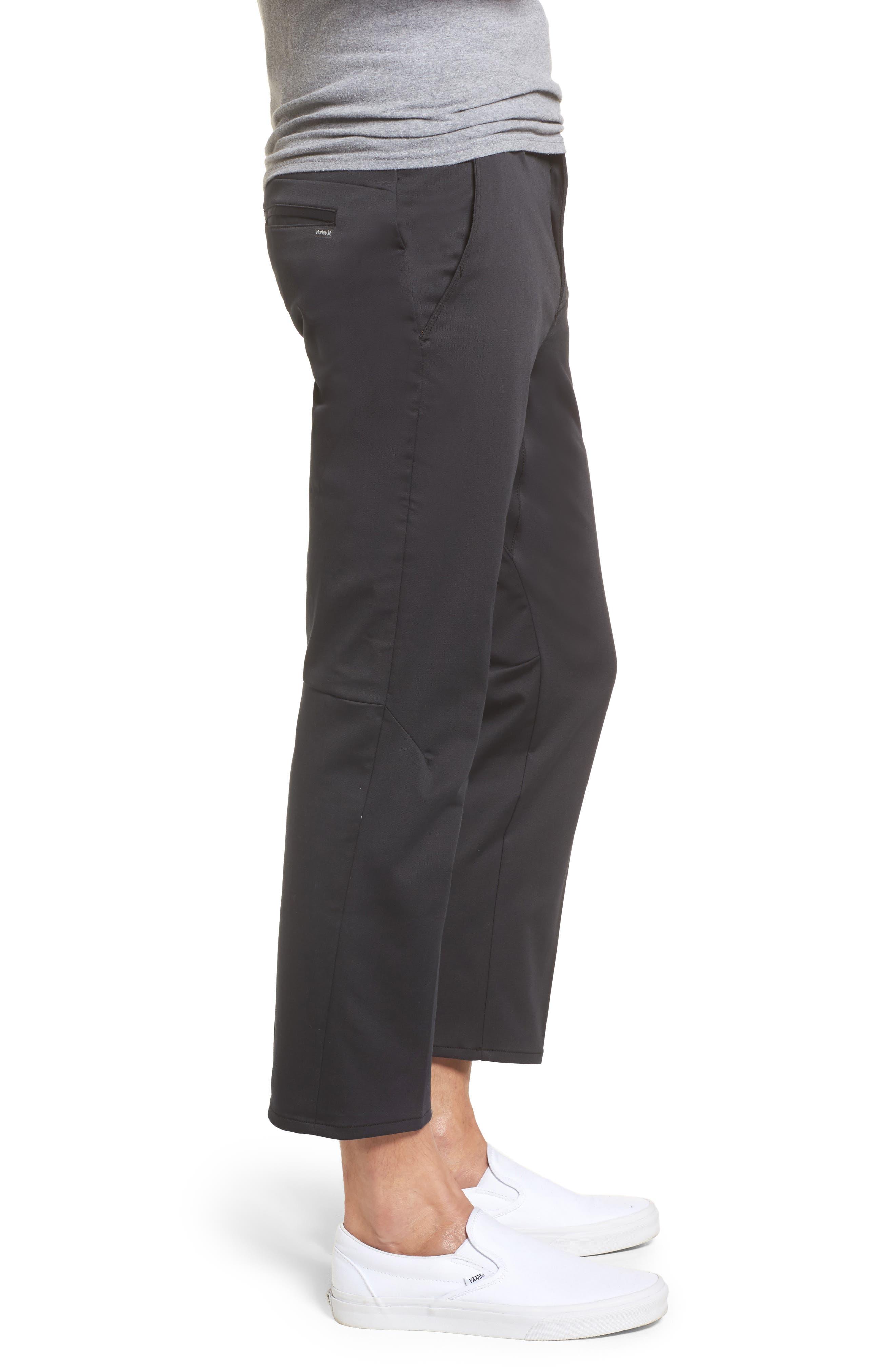 Covert Slim Fit Crop Pants,                             Alternate thumbnail 3, color,                             Black