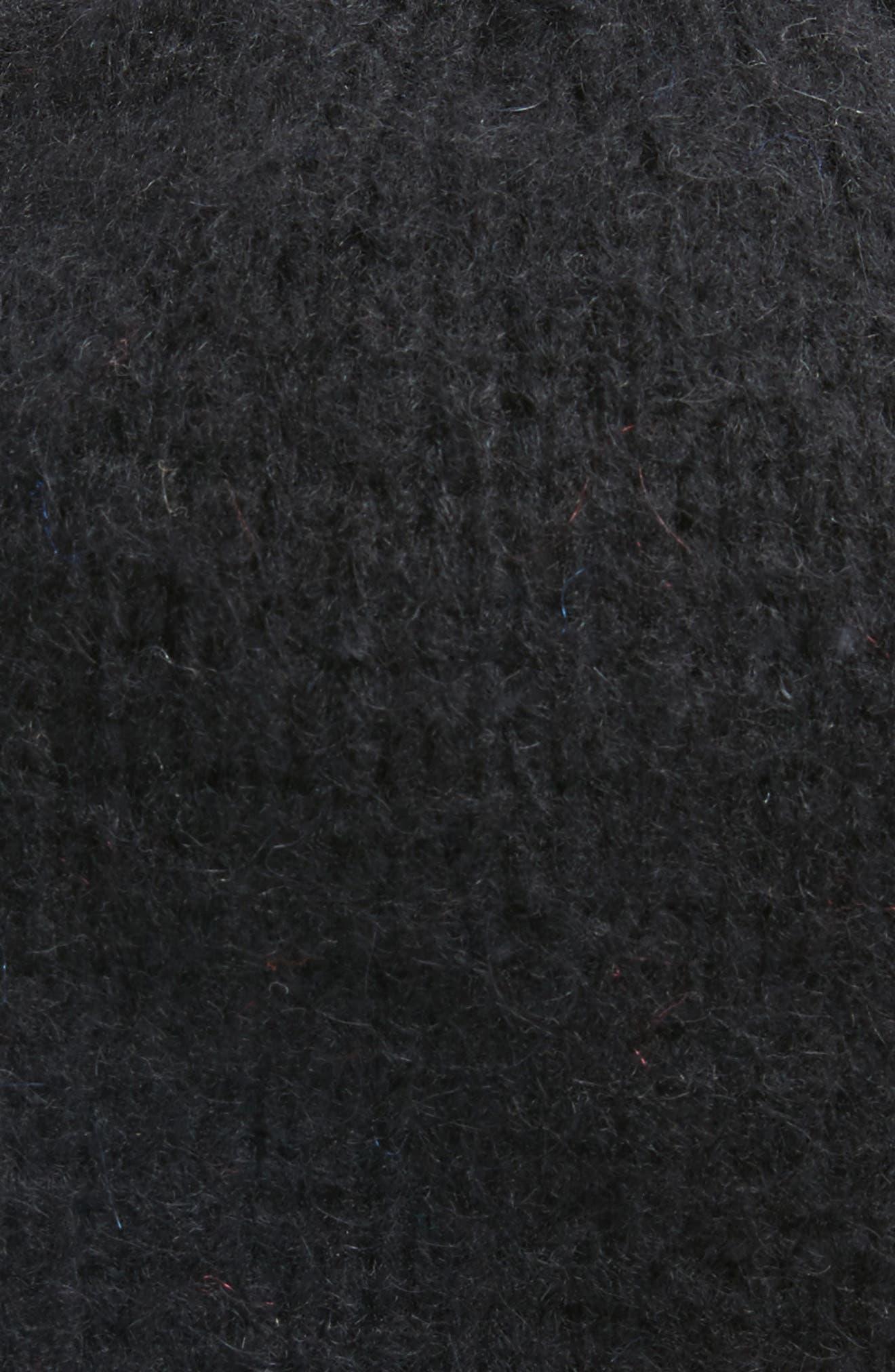 Metallic Tipped Beanie,                             Alternate thumbnail 2, color,                             Black Combo