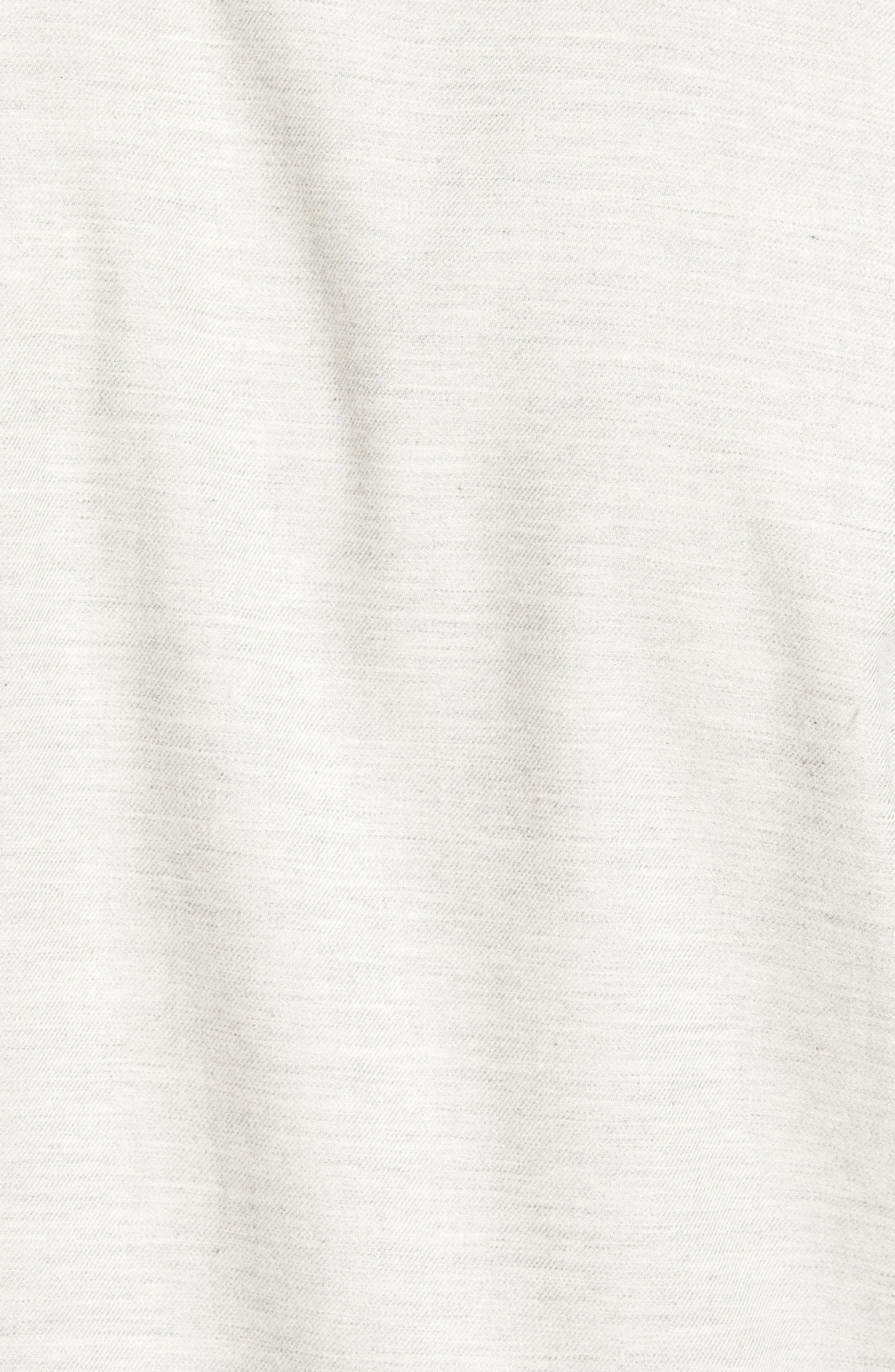 Twill Woven Shirt,                             Alternate thumbnail 5, color,                             Grey