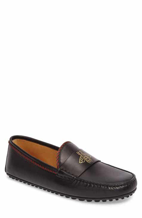 69008b187 Gucci Bee Leather Driving Shoe (Men)