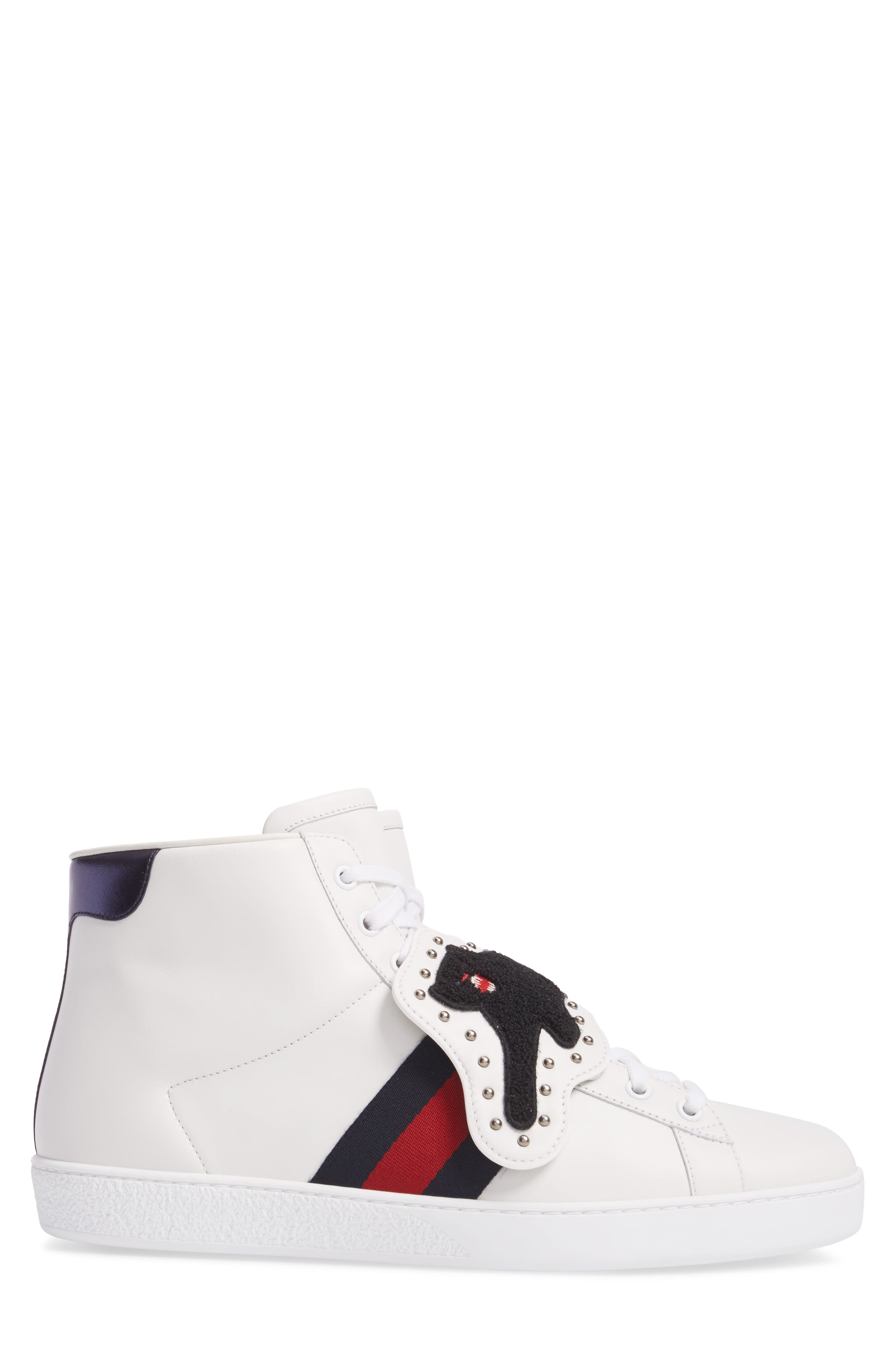 Alternate Image 3  - Gucci New Ace Hi Panther Sneaker (Men)