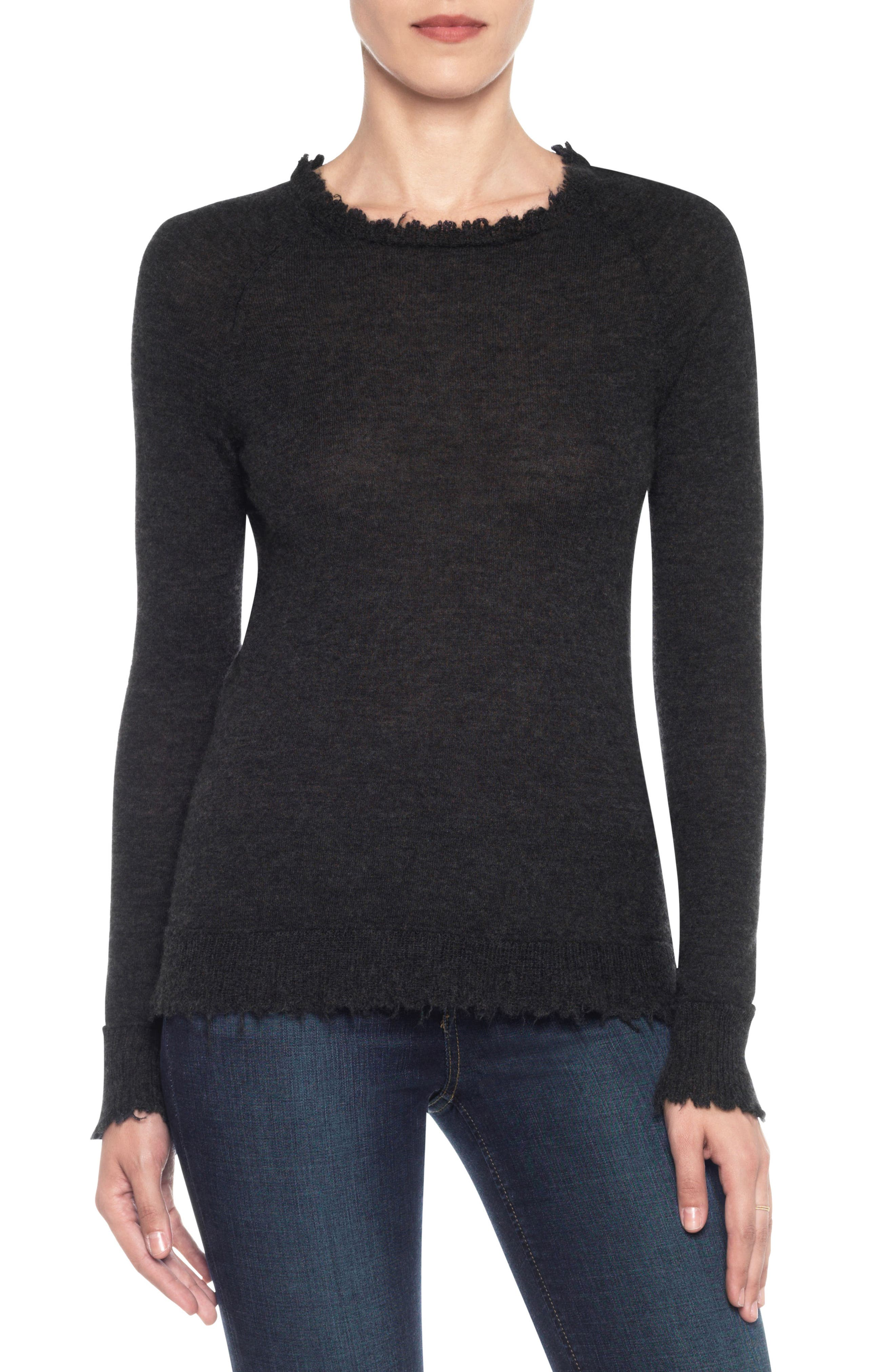 Romy Sweater,                         Main,                         color, Charcoal