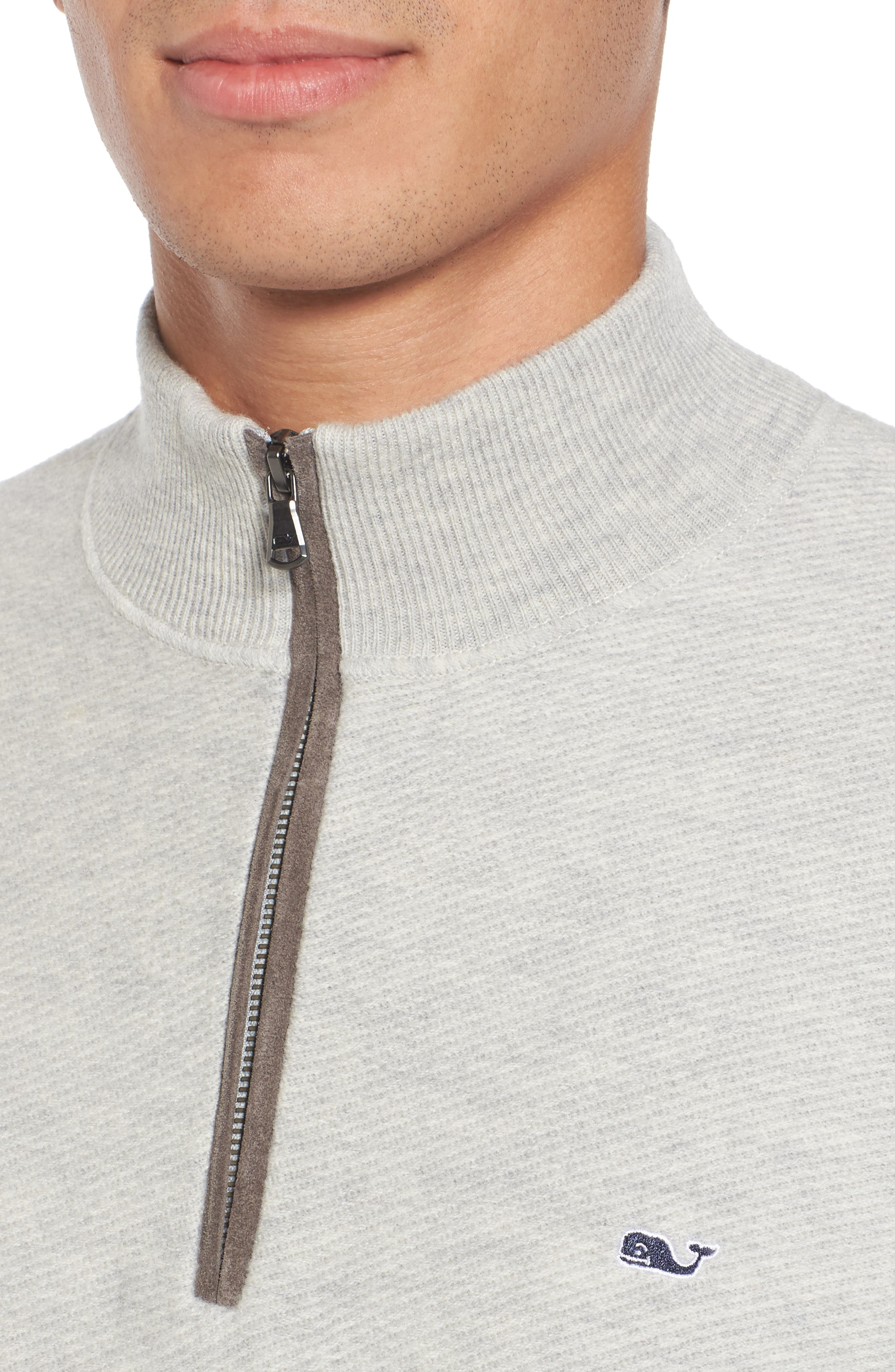 Alternate Image 4  - vineyard vines Merino Wool Twill Stitch Quarter Zip Sweater