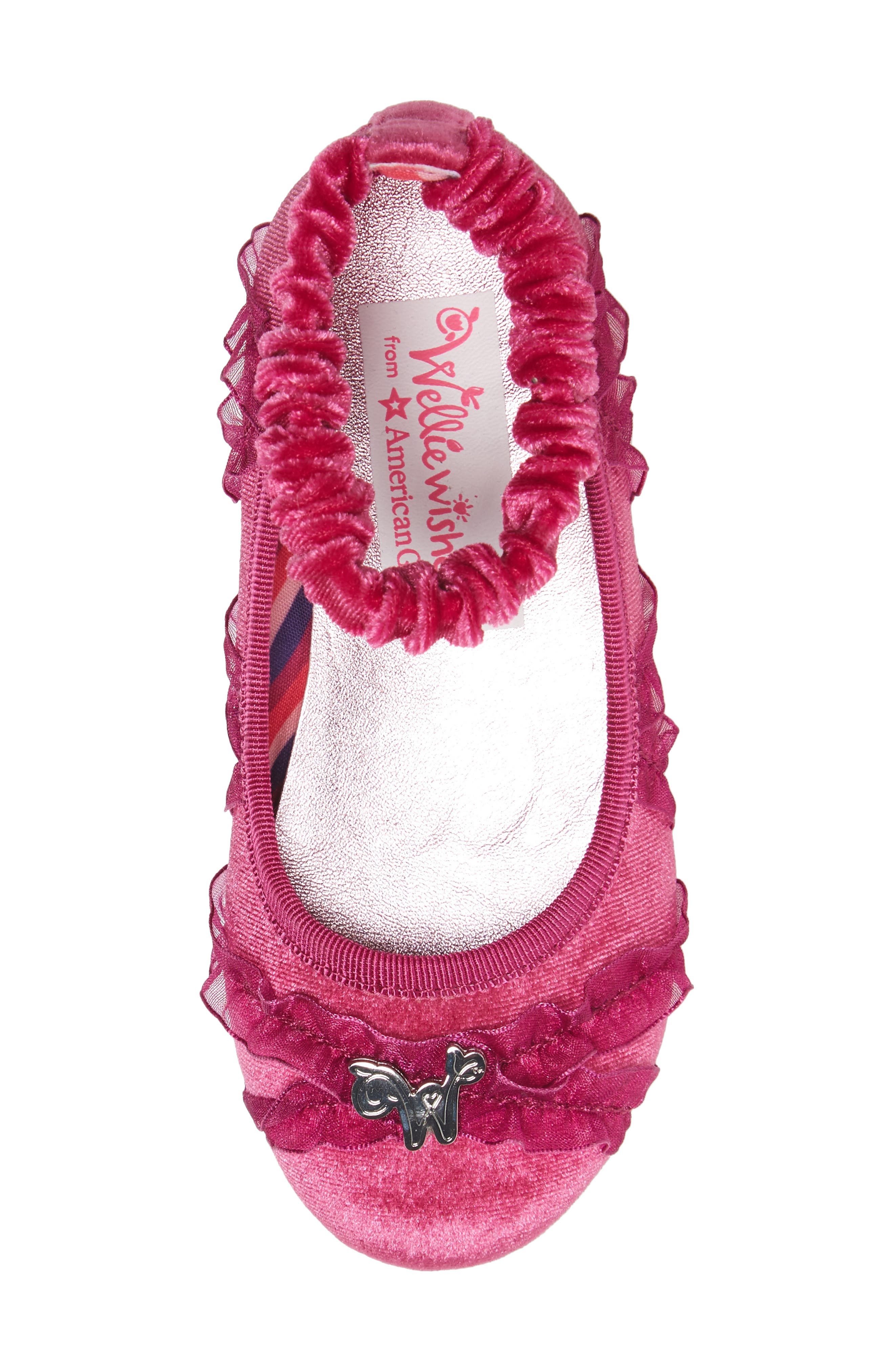 Emerson Ankle Strap Ballet Flat,                             Alternate thumbnail 5, color,                             Pink Multi