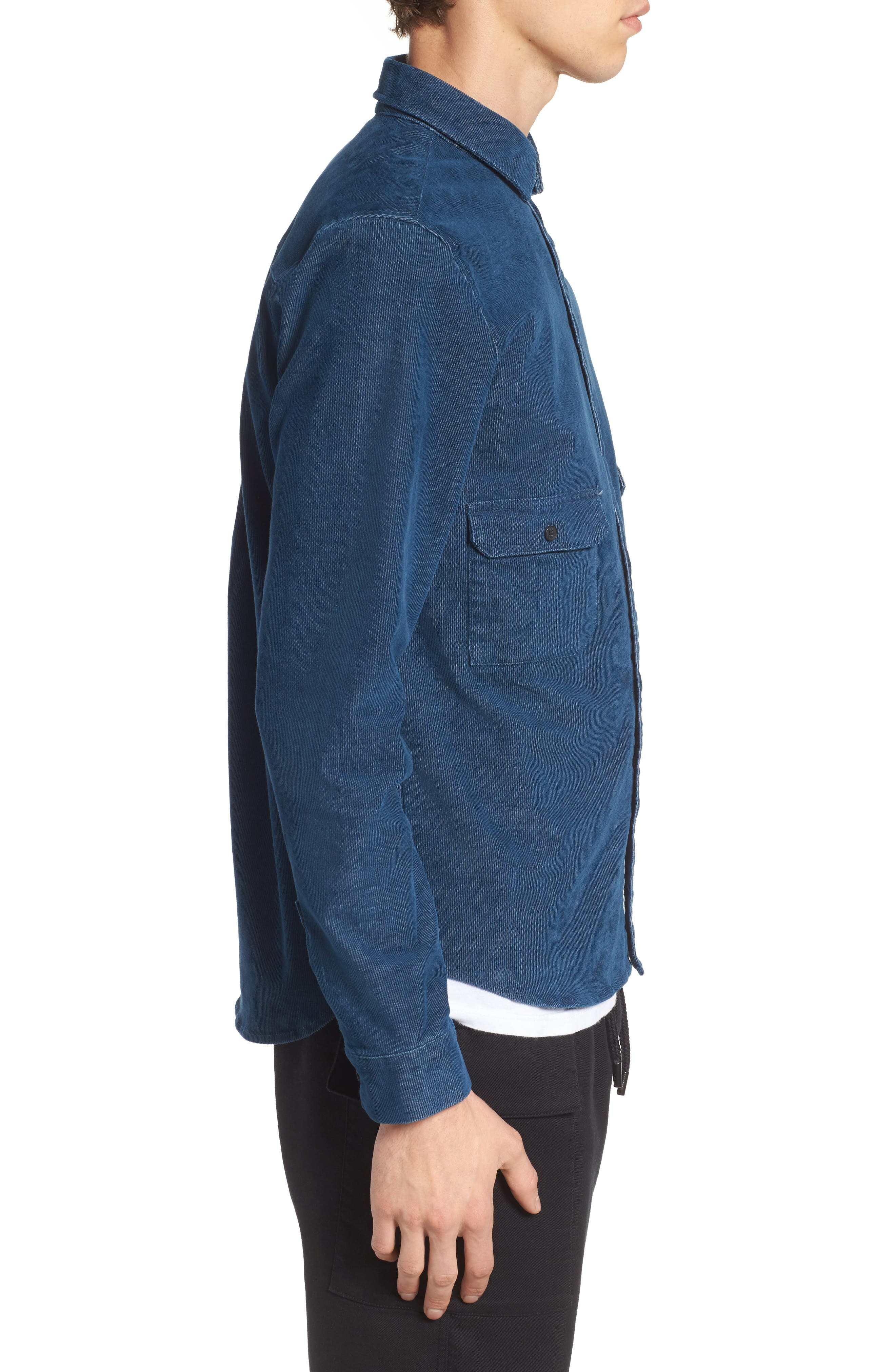Cheriton Corduroy Shirt,                             Alternate thumbnail 3, color,                             Blue