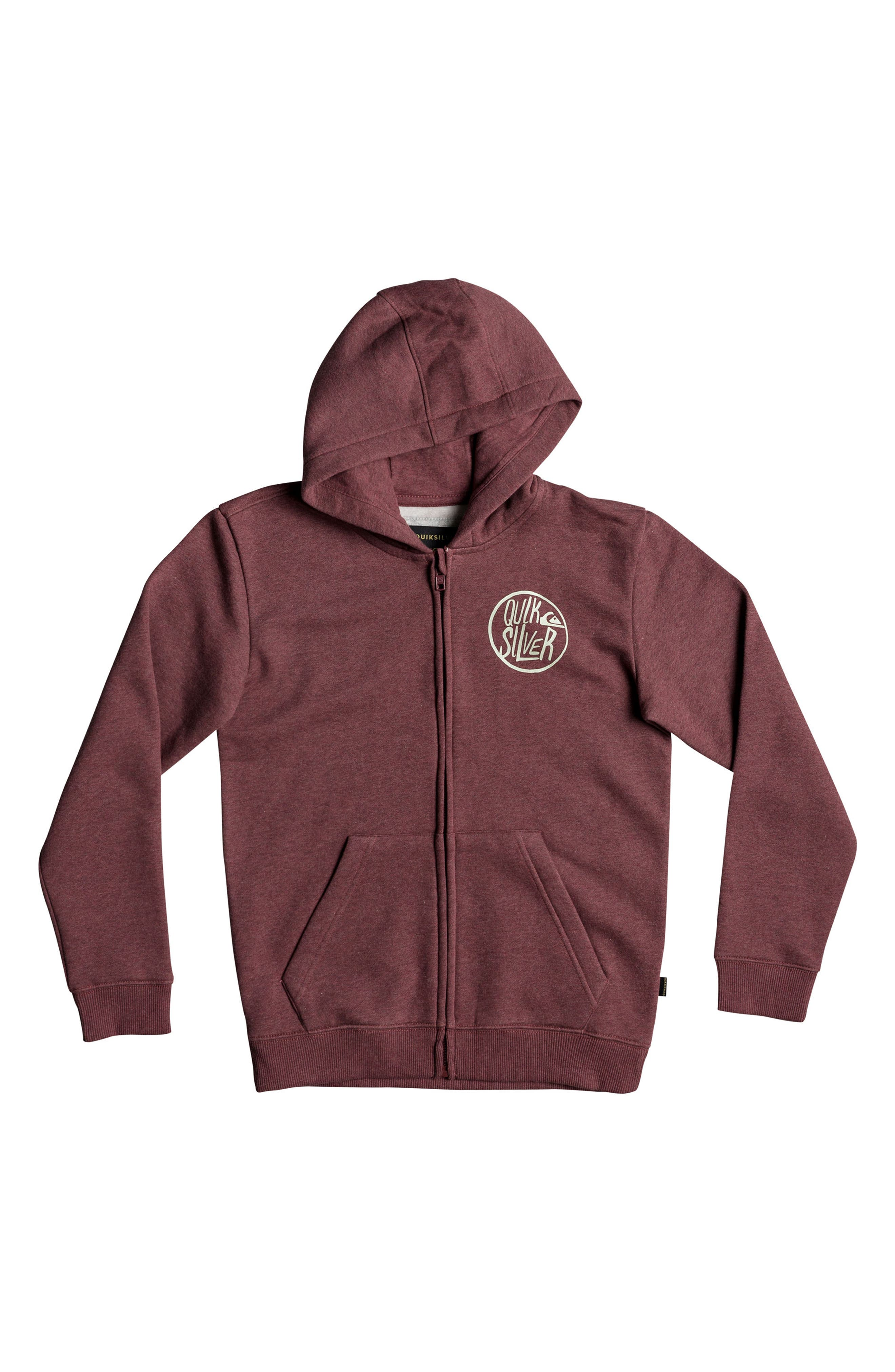 Zip-Up Hoodie,                         Main,                         color, Pomegranate Heather