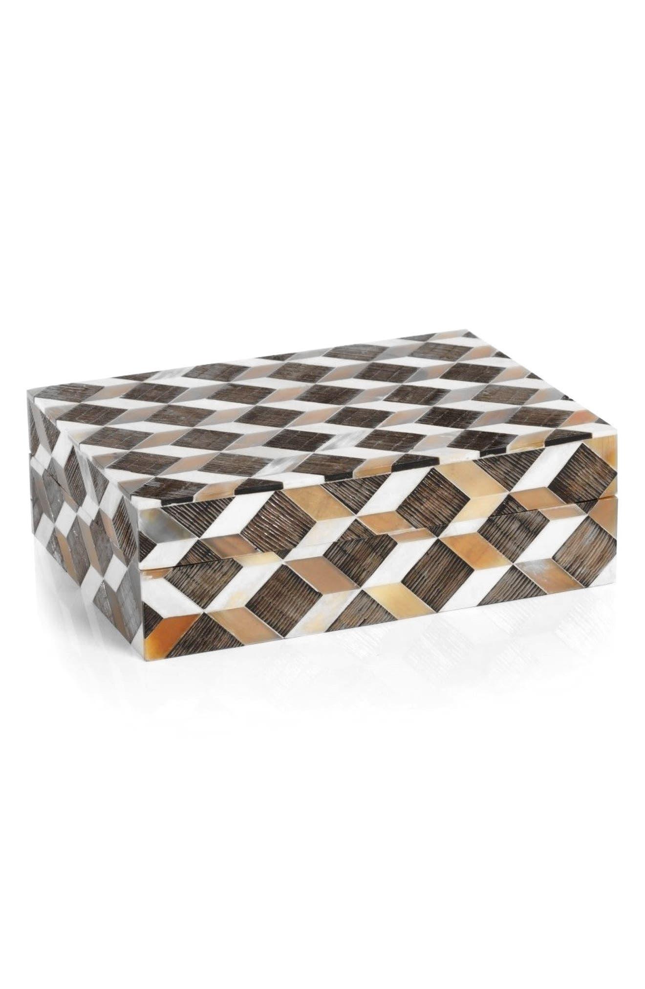 Echo Bone Jewlery Box,                         Main,                         color, Brown/ Orange/ Multi