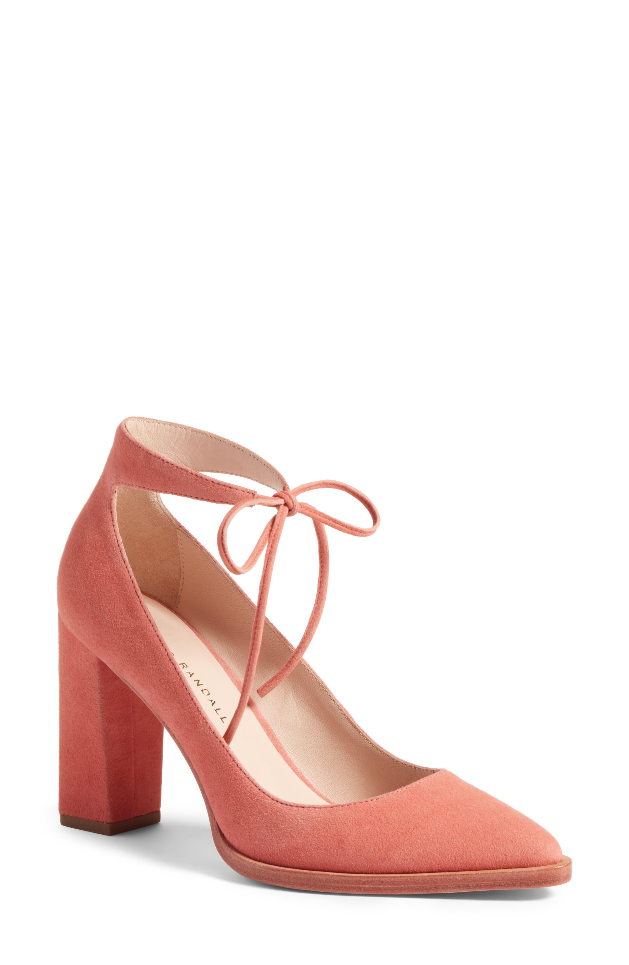 Loeffler Randall Rita Ankle Strap Pointy Toe Pump (Women)