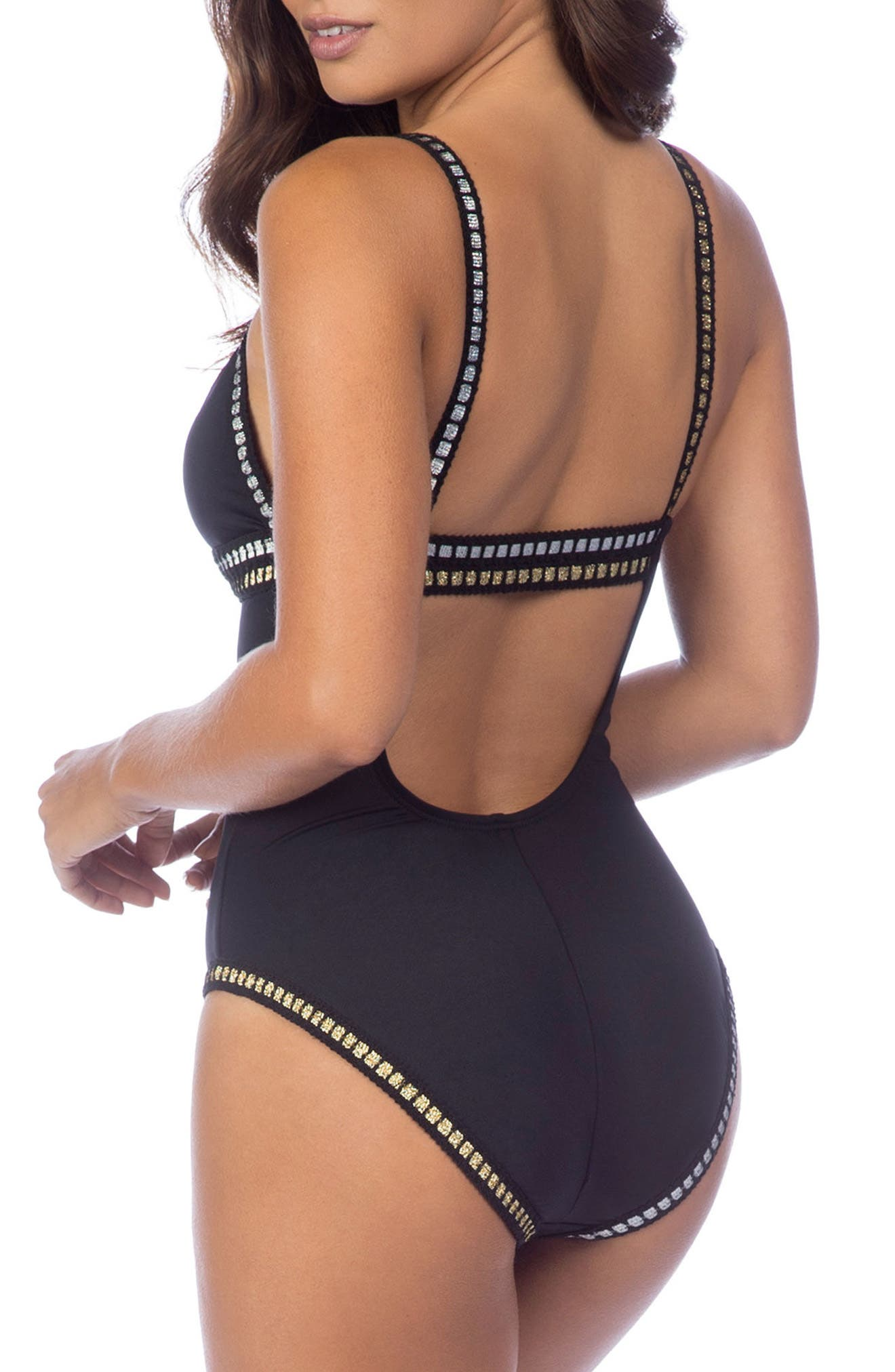 Alternate Image 2  - La Blanca Threading Along One-Piece Swimsuit