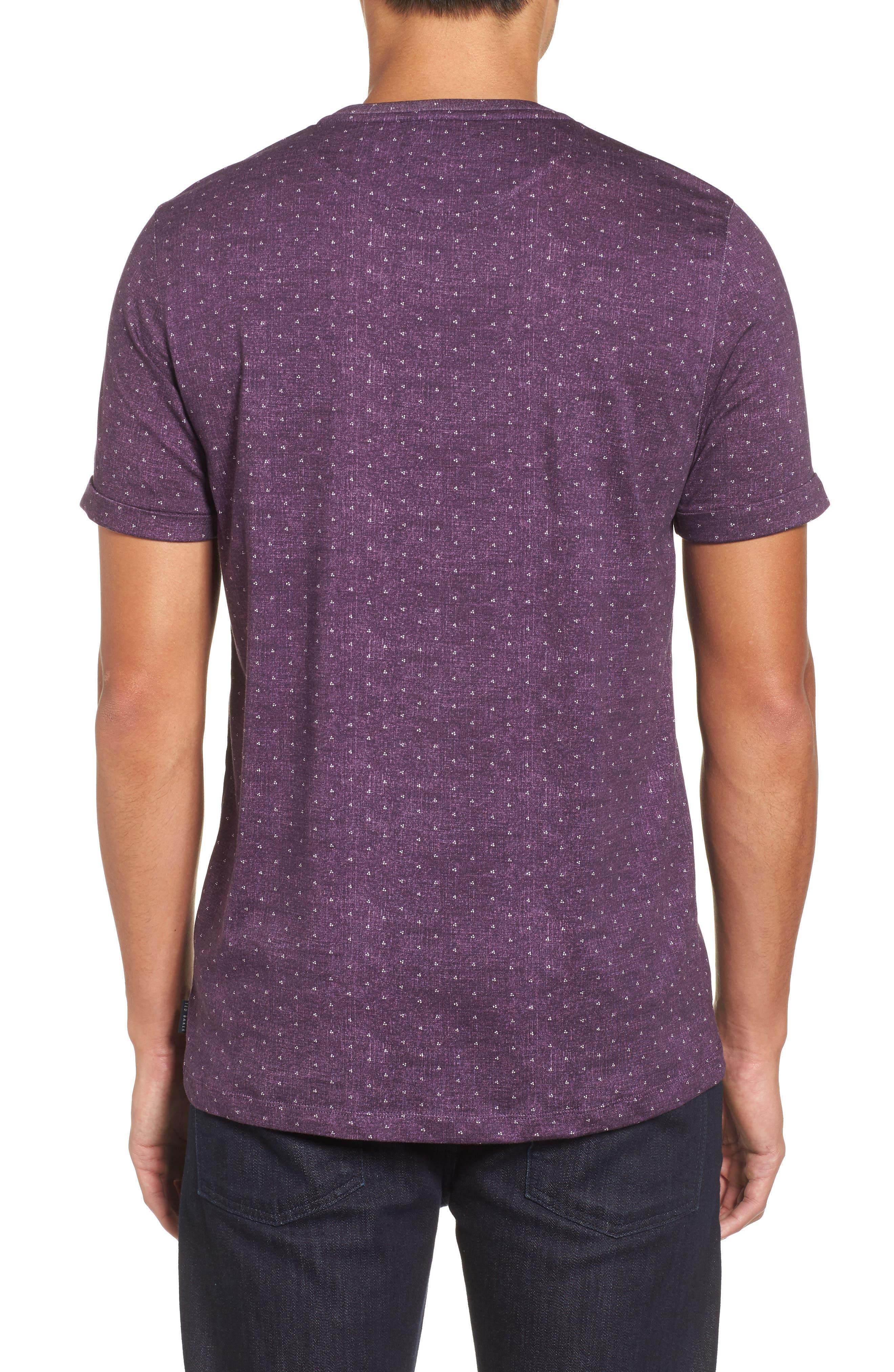 Giovani Modern Slim Fit Print T-Shirt,                             Alternate thumbnail 2, color,                             Purple