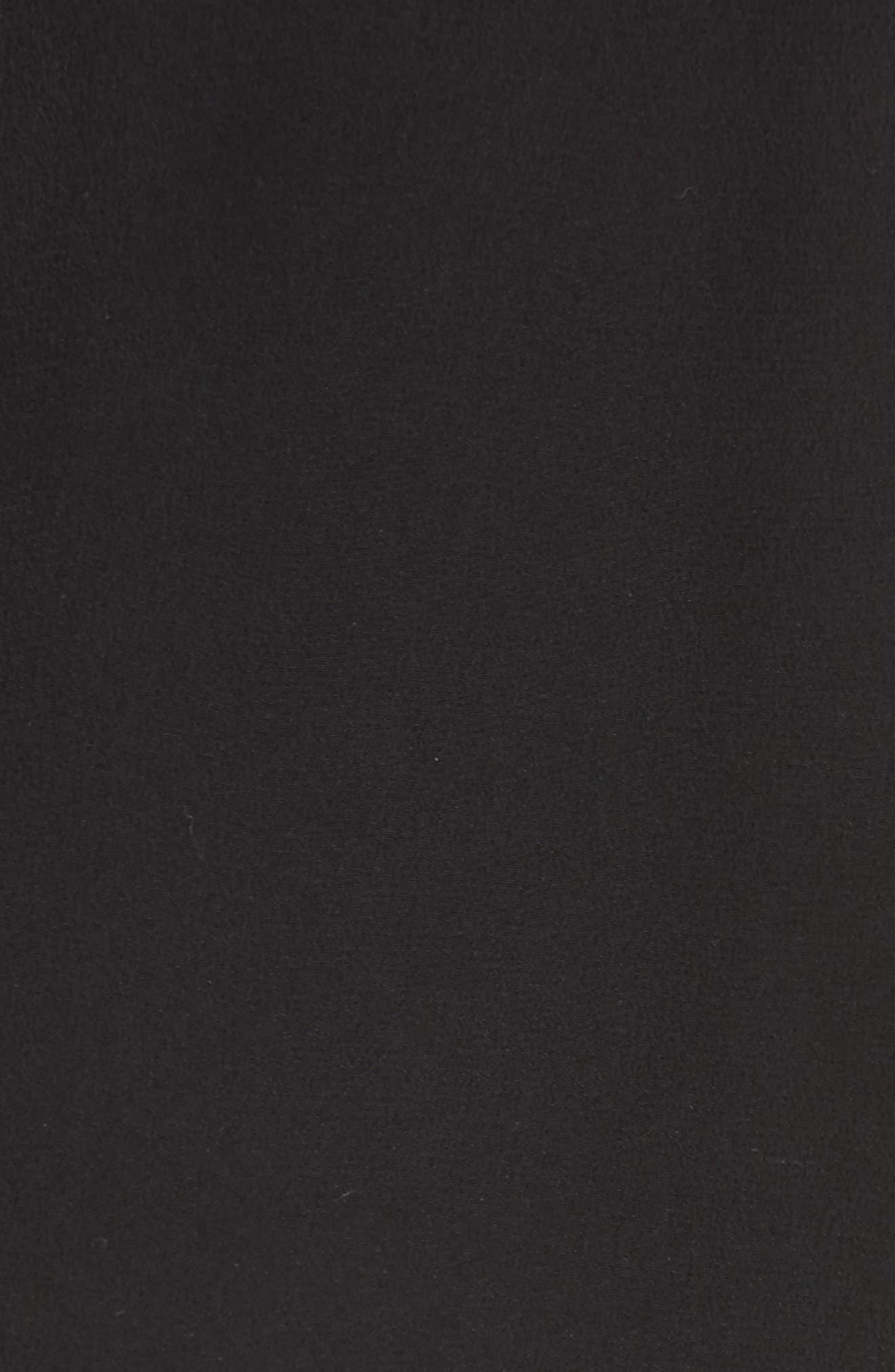 Simon Silk Blouse,                             Alternate thumbnail 5, color,                             True Black