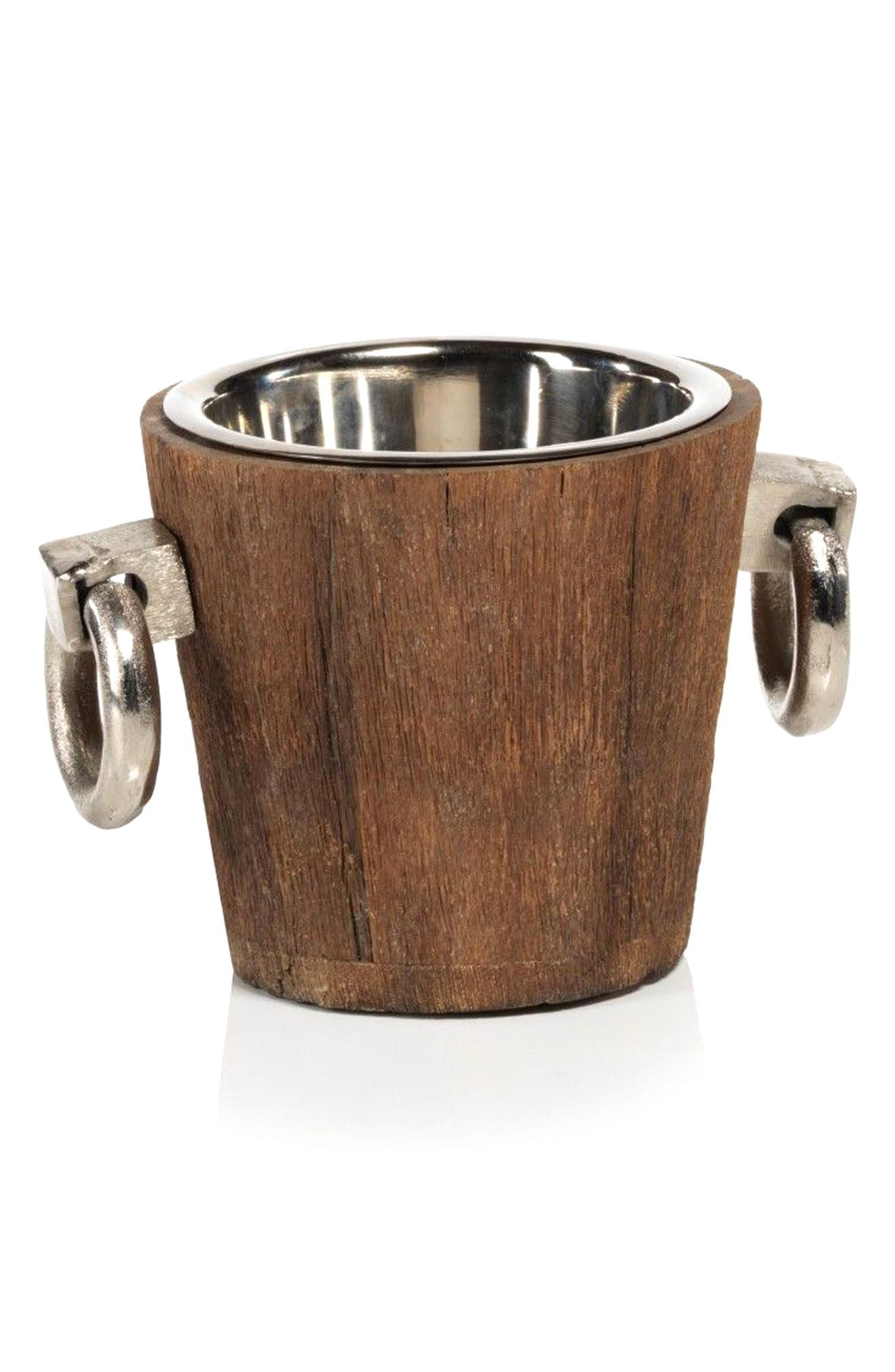 Hagron Wood Ice Bucket,                         Main,                         color, Brown