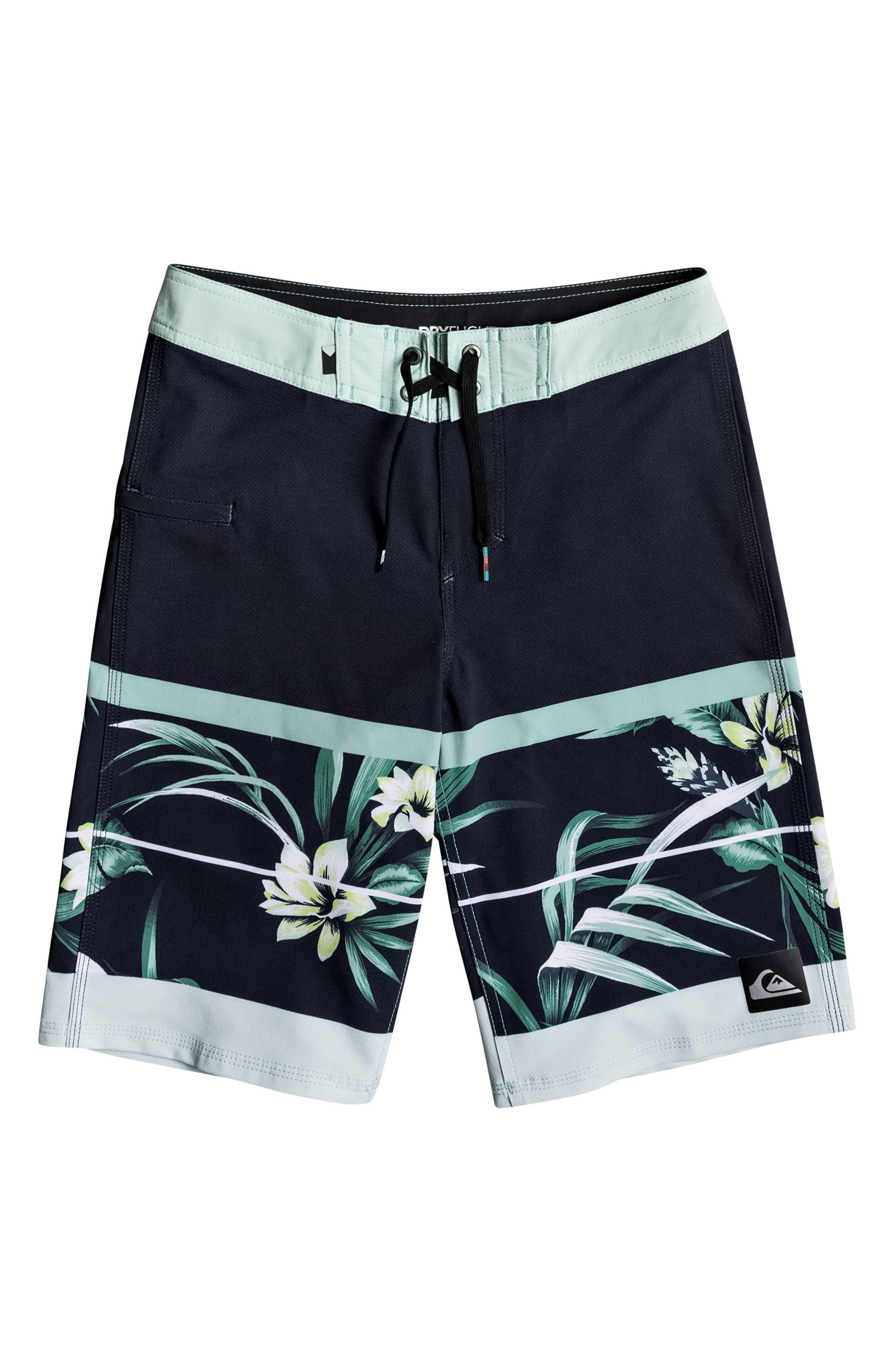 Main Image - Quiksilver Slab Island Vee Board Shorts (Big Boys)