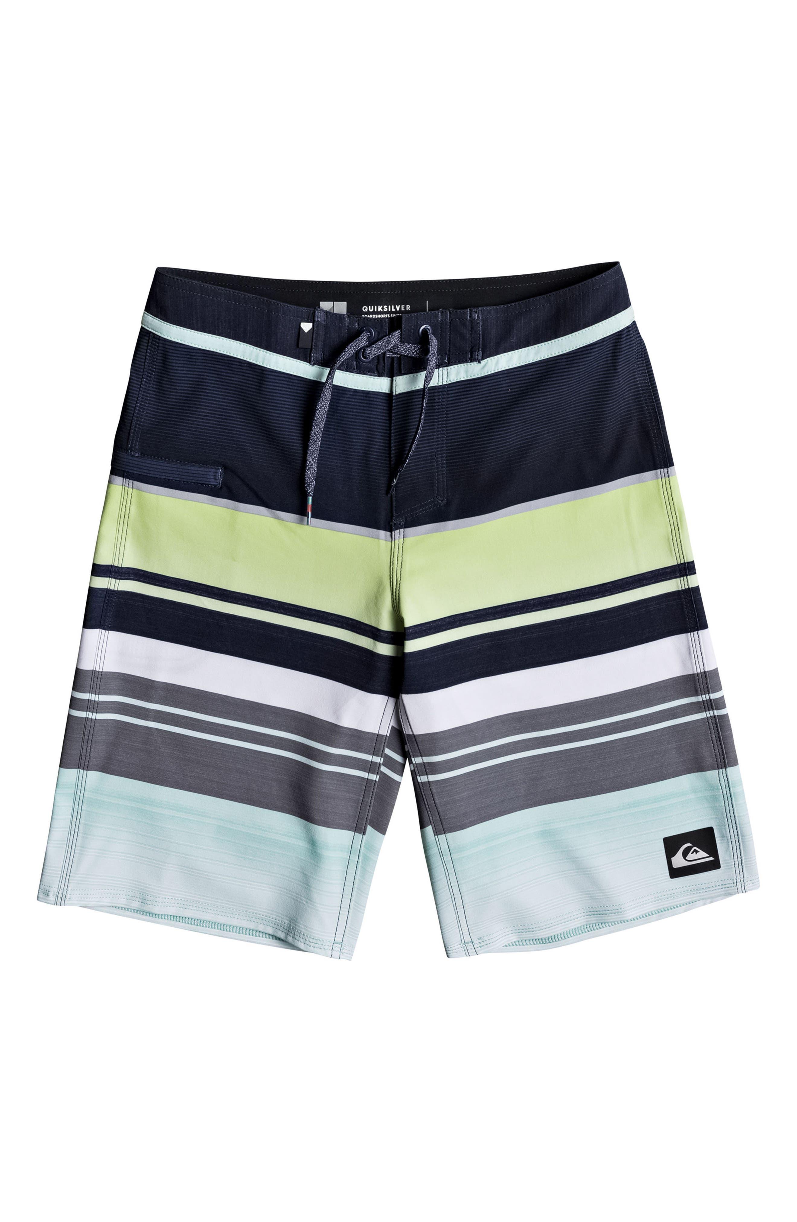 Alternate Image 1 Selected - Quiksilver Everyday Stripe Vee Board Shorts (Big Boys)